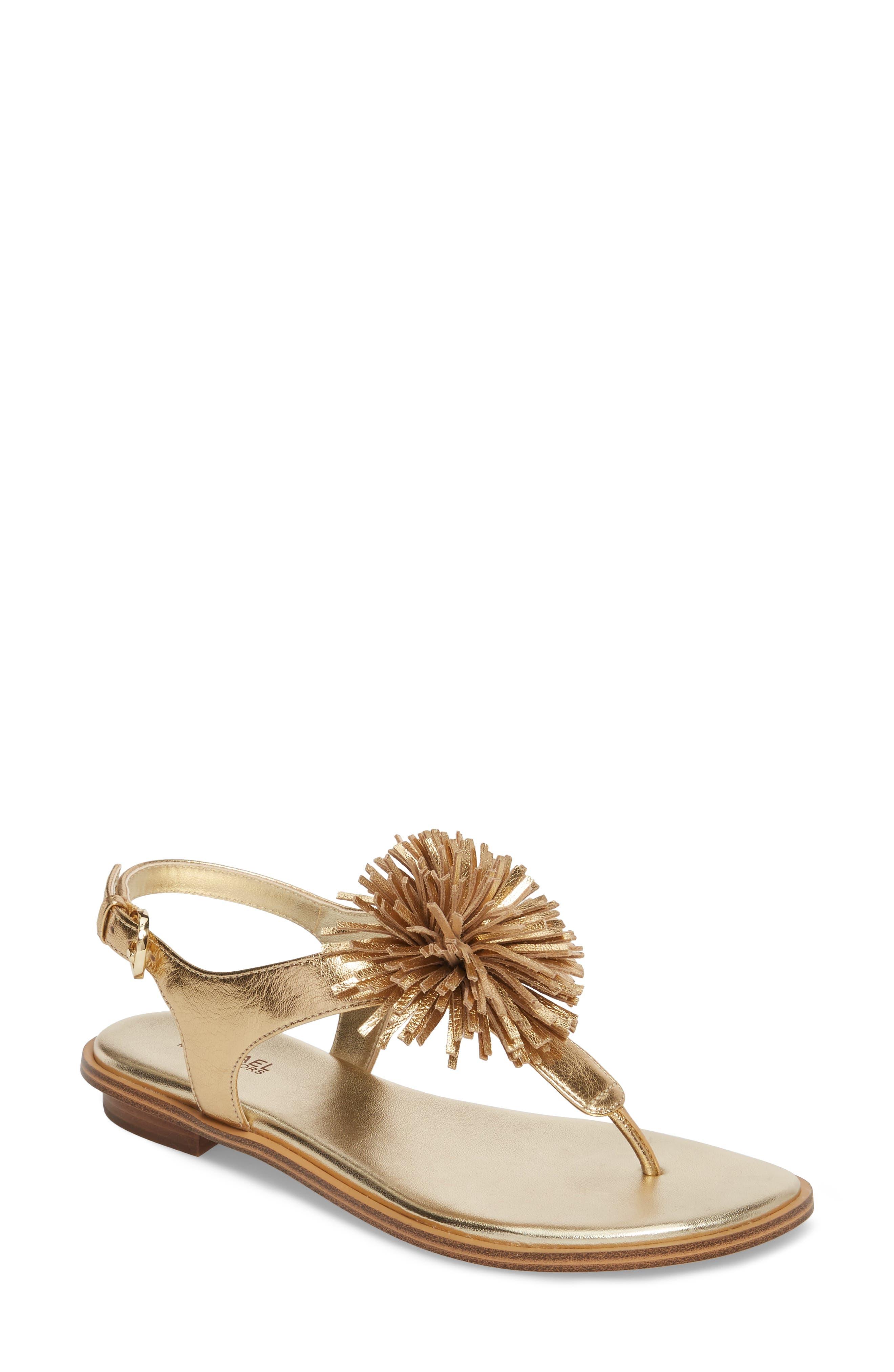 Lolita Sandal,                             Main thumbnail 1, color,                             Pale Gold Leather