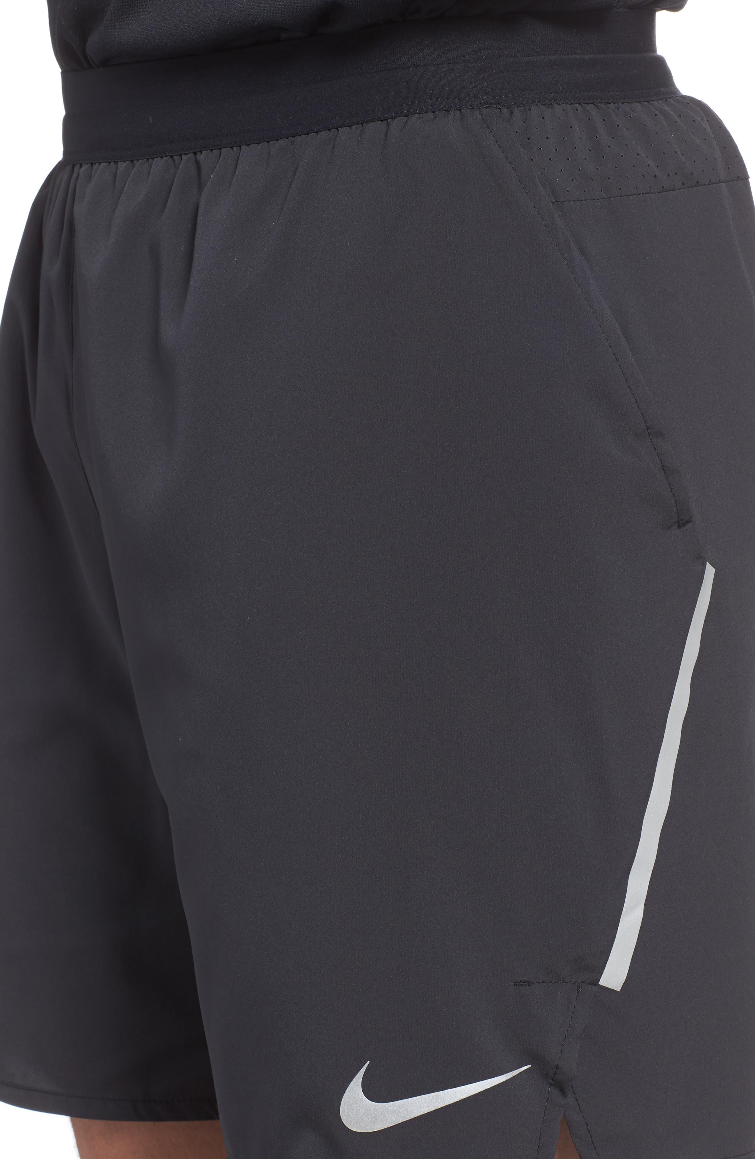 Flex Distance Shorts,                             Alternate thumbnail 4, color,                             Black/ Black