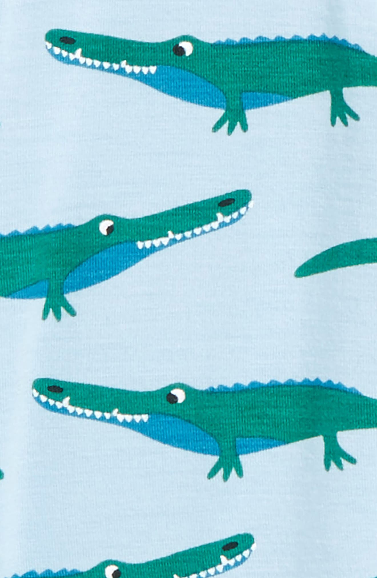 Print Footie,                             Alternate thumbnail 2, color,                             Pond/ Crocodile
