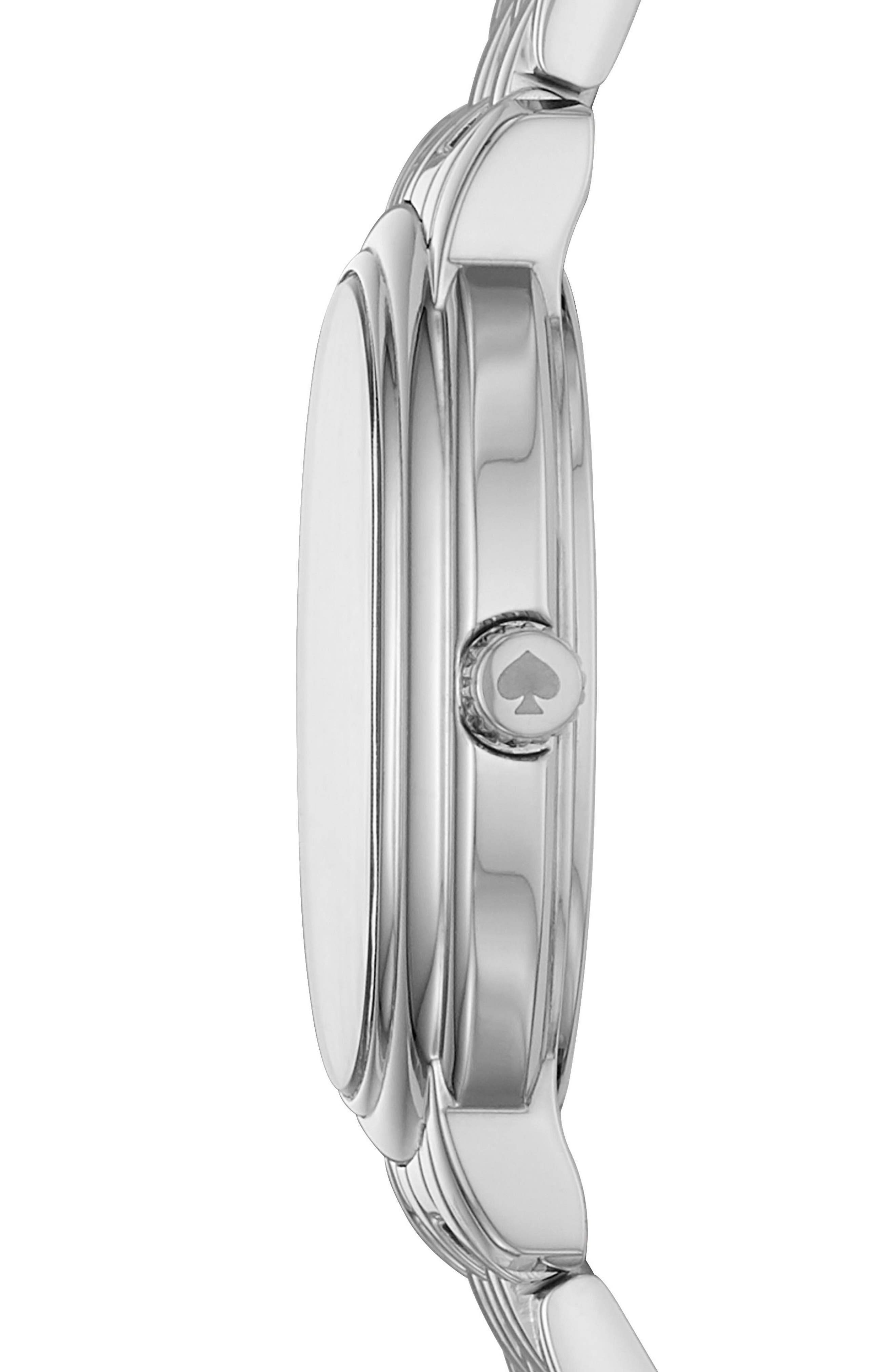 staten bracelet watch, 25mm x 33mm,                             Alternate thumbnail 2, color,                             Silver/ White/ Silver