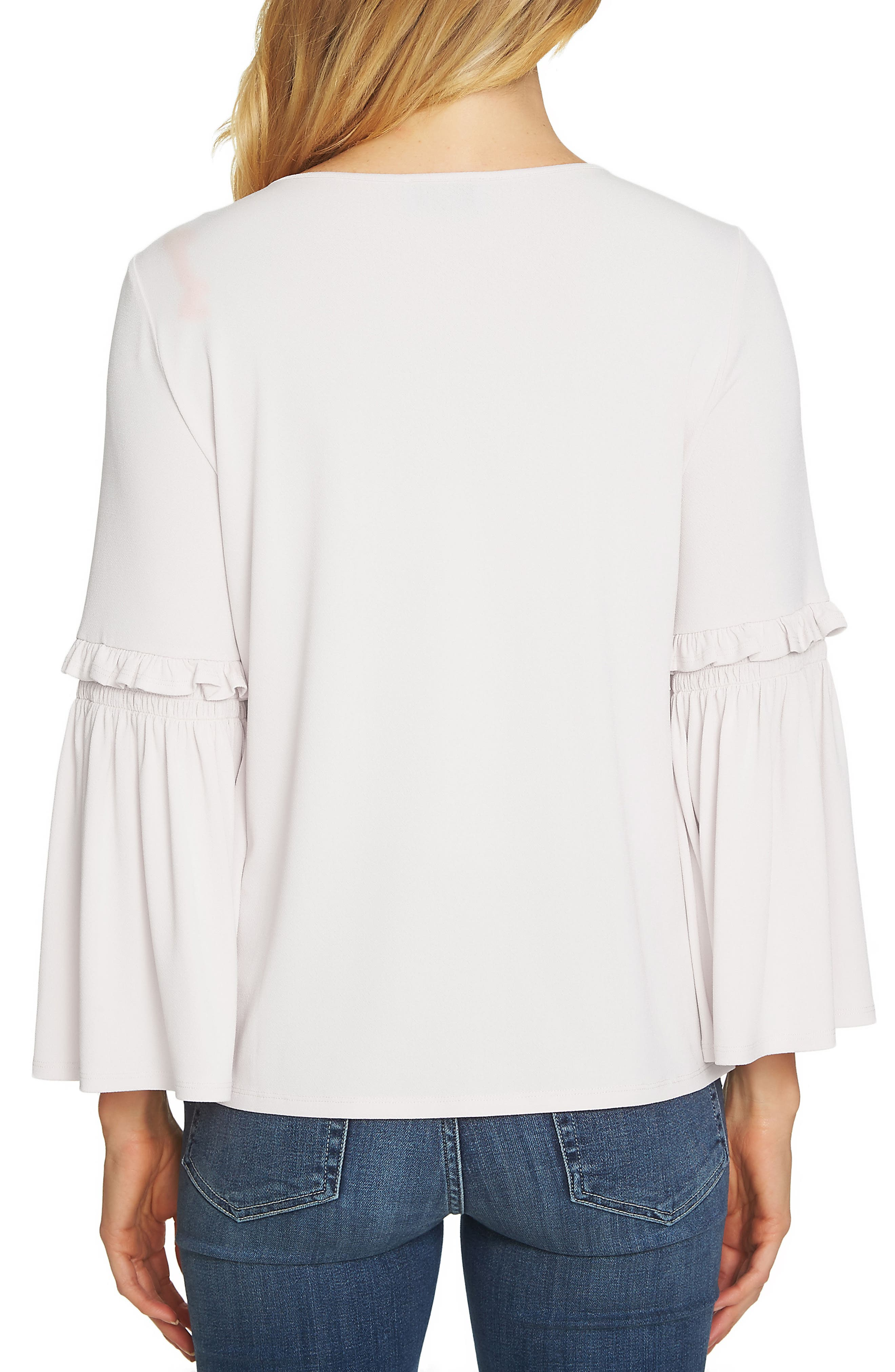 Bell Sleeve Knit Top,                             Alternate thumbnail 2, color,                             Antique White