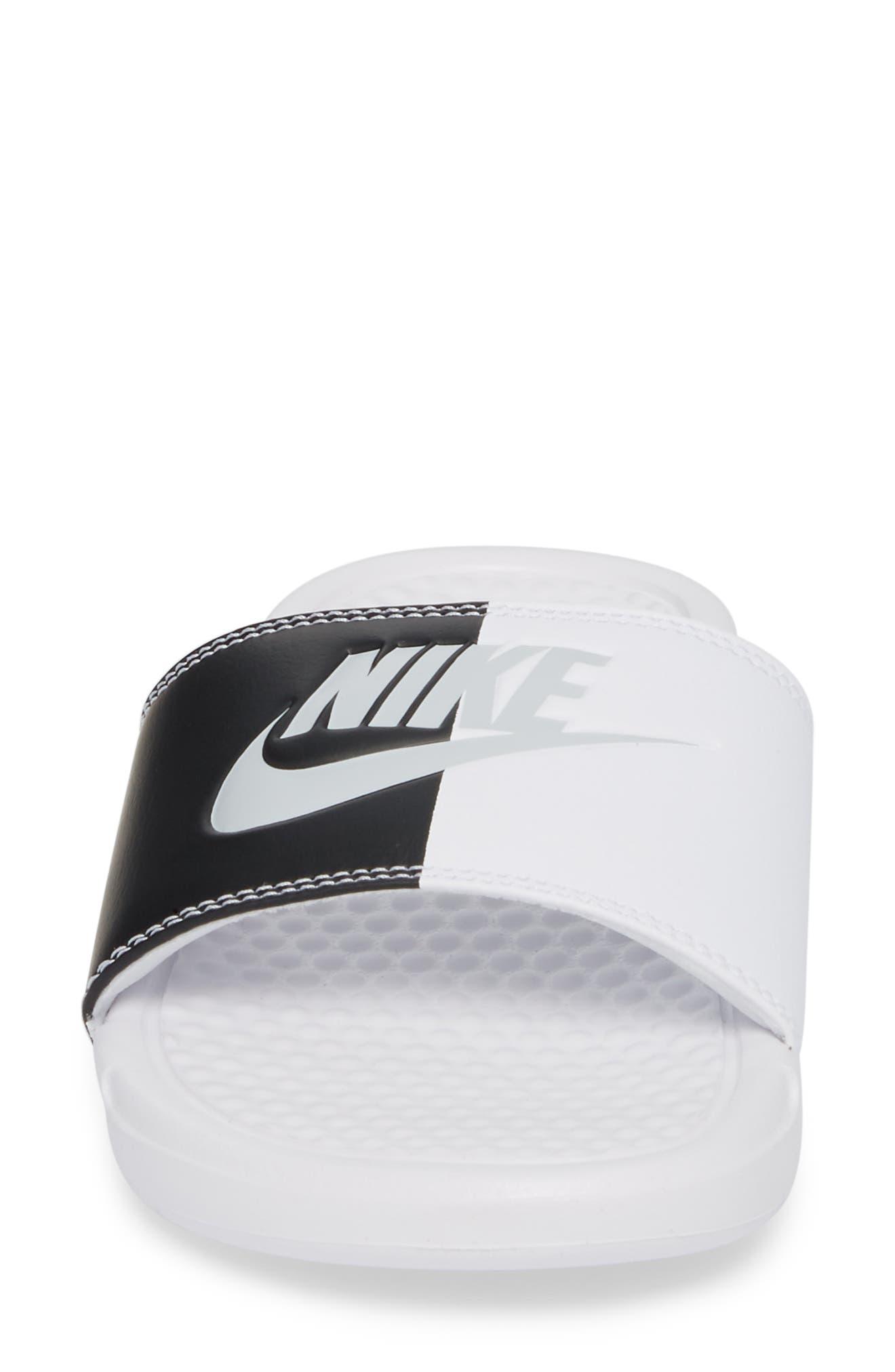 Benassi JDI Slide Sandal,                             Alternate thumbnail 4, color,                             White/ Pure Platinum