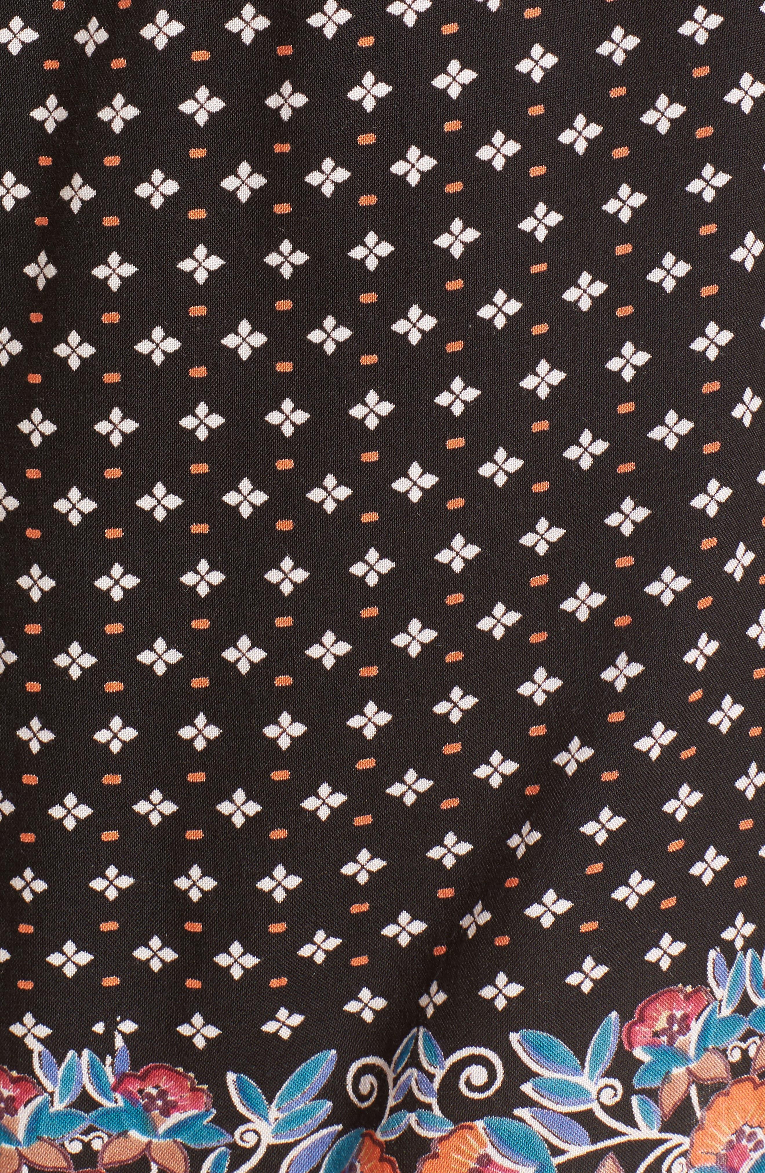 Crisscross Neckline Romper,                             Alternate thumbnail 5, color,                             Black