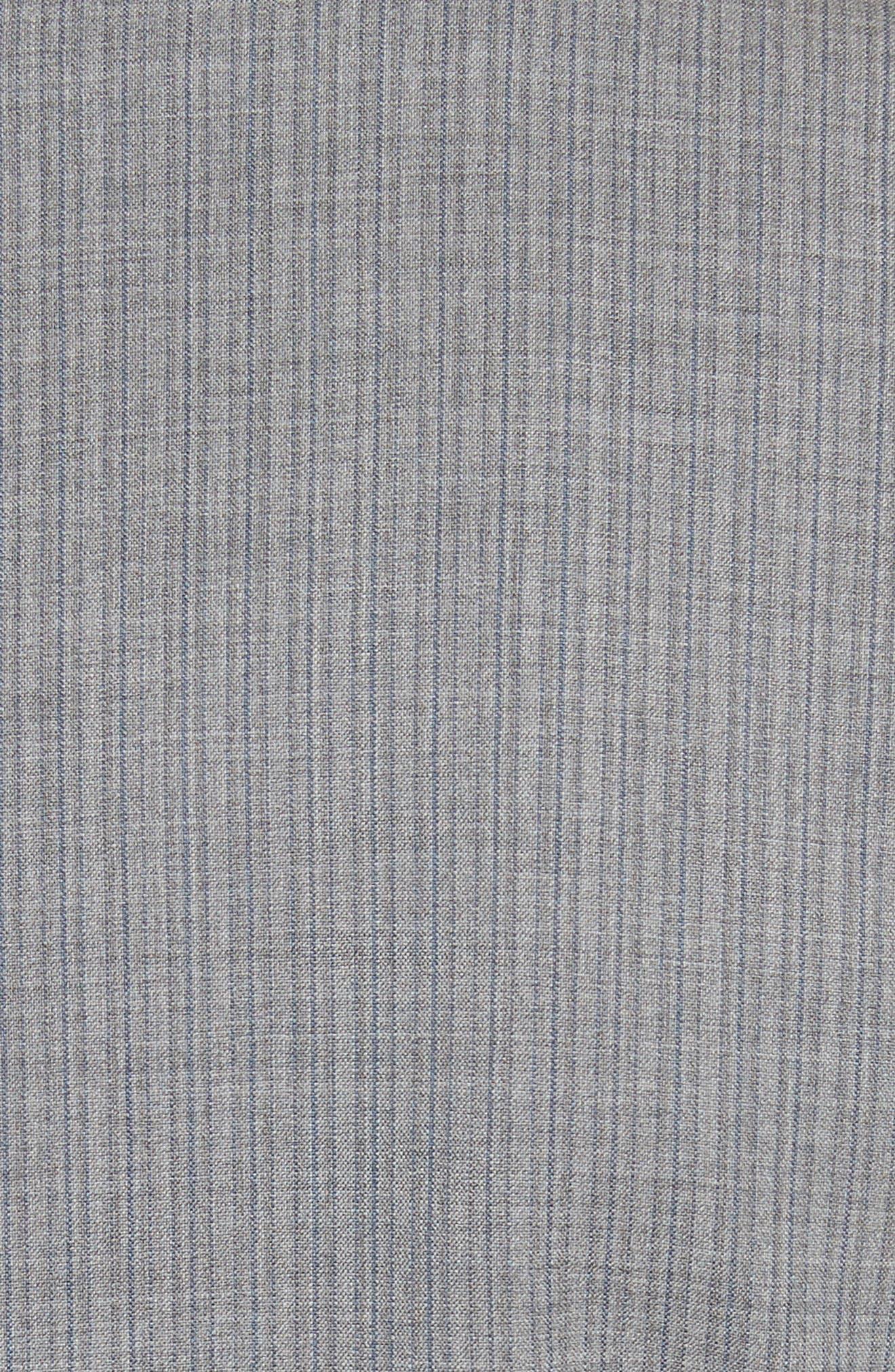 Classic Fit Stripe Wool Suit,                             Alternate thumbnail 9, color,                             Grey