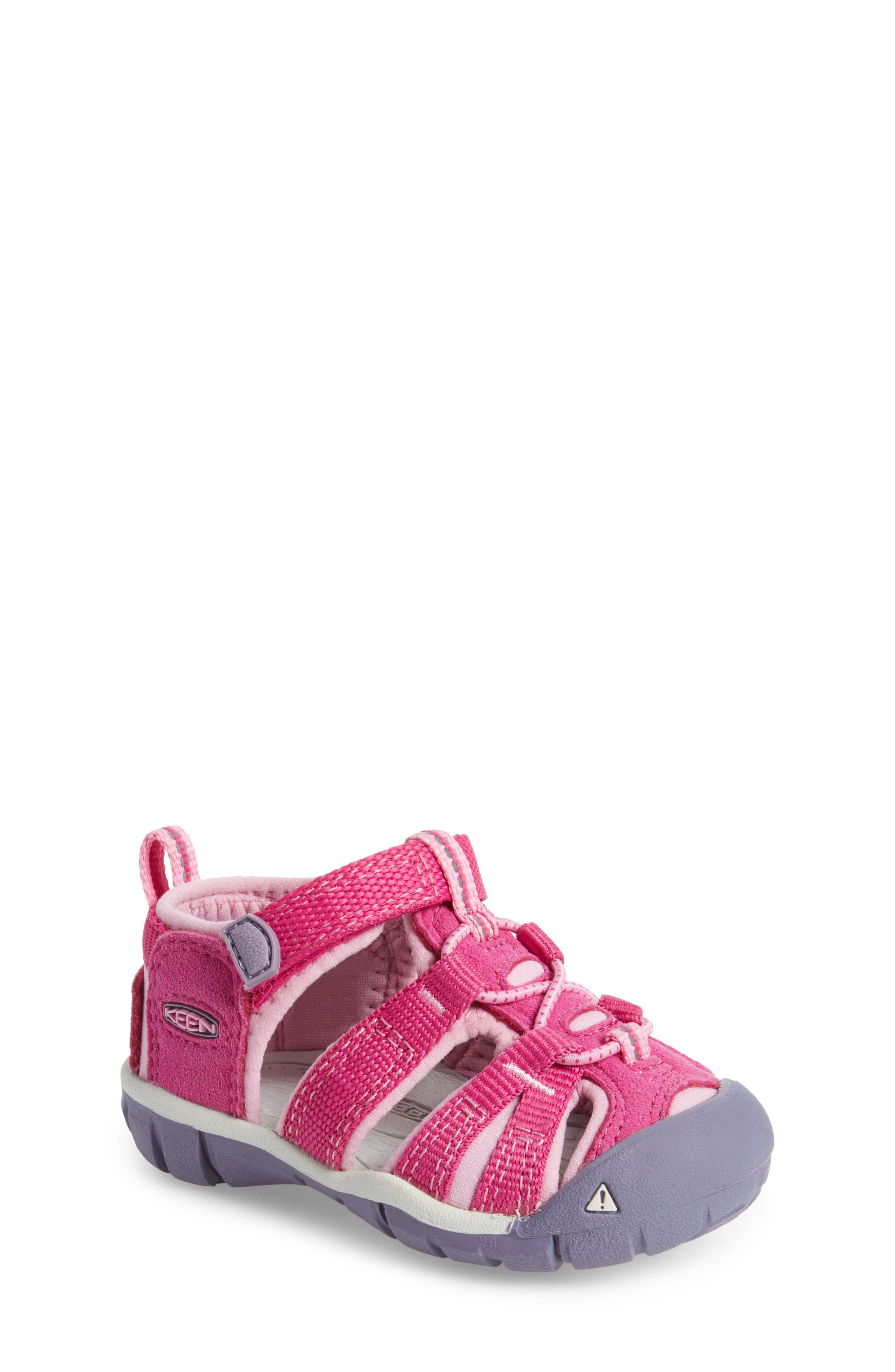 'Seacamp II' Water Friendly Sandal,                         Main,                         color, Very Berry/ Lilac Chiffon