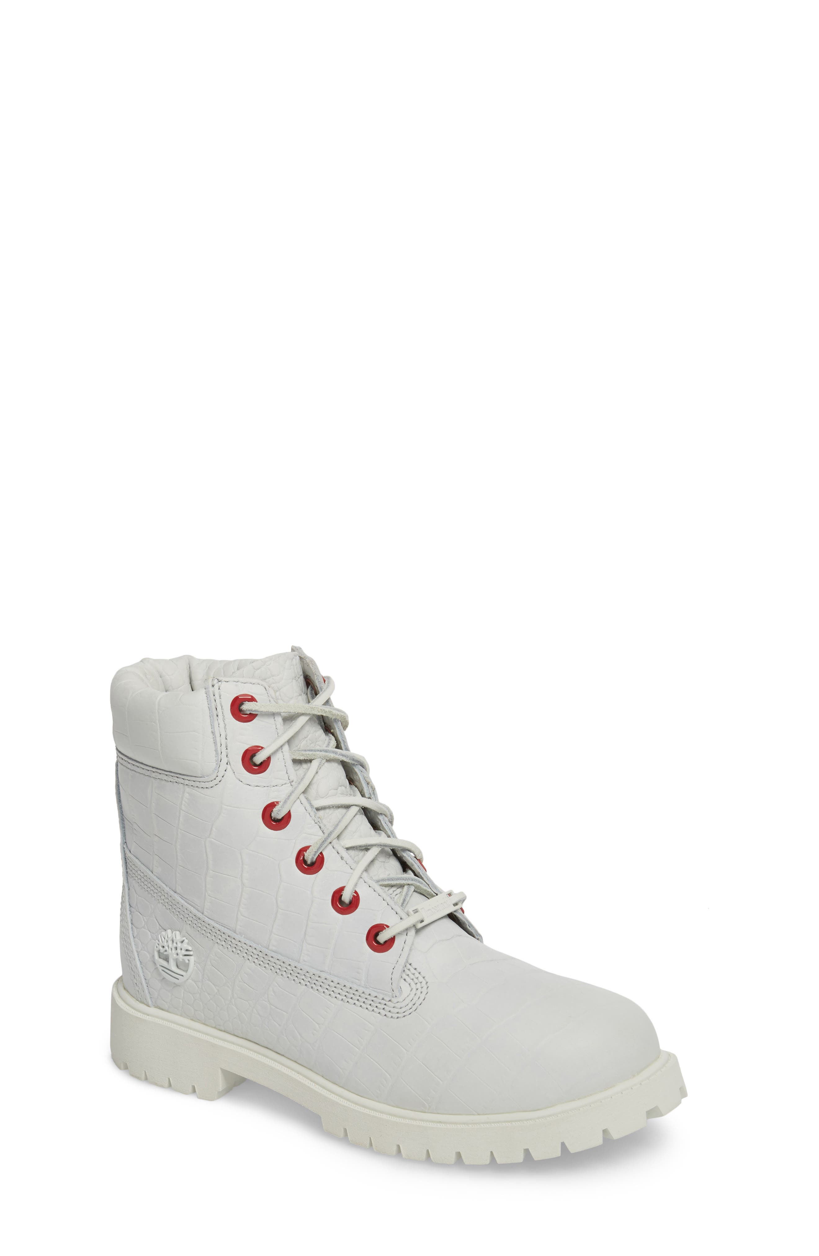 6-Inch Premium Waterproof Boot,                             Main thumbnail 1, color,                             White Cardinal Exotic