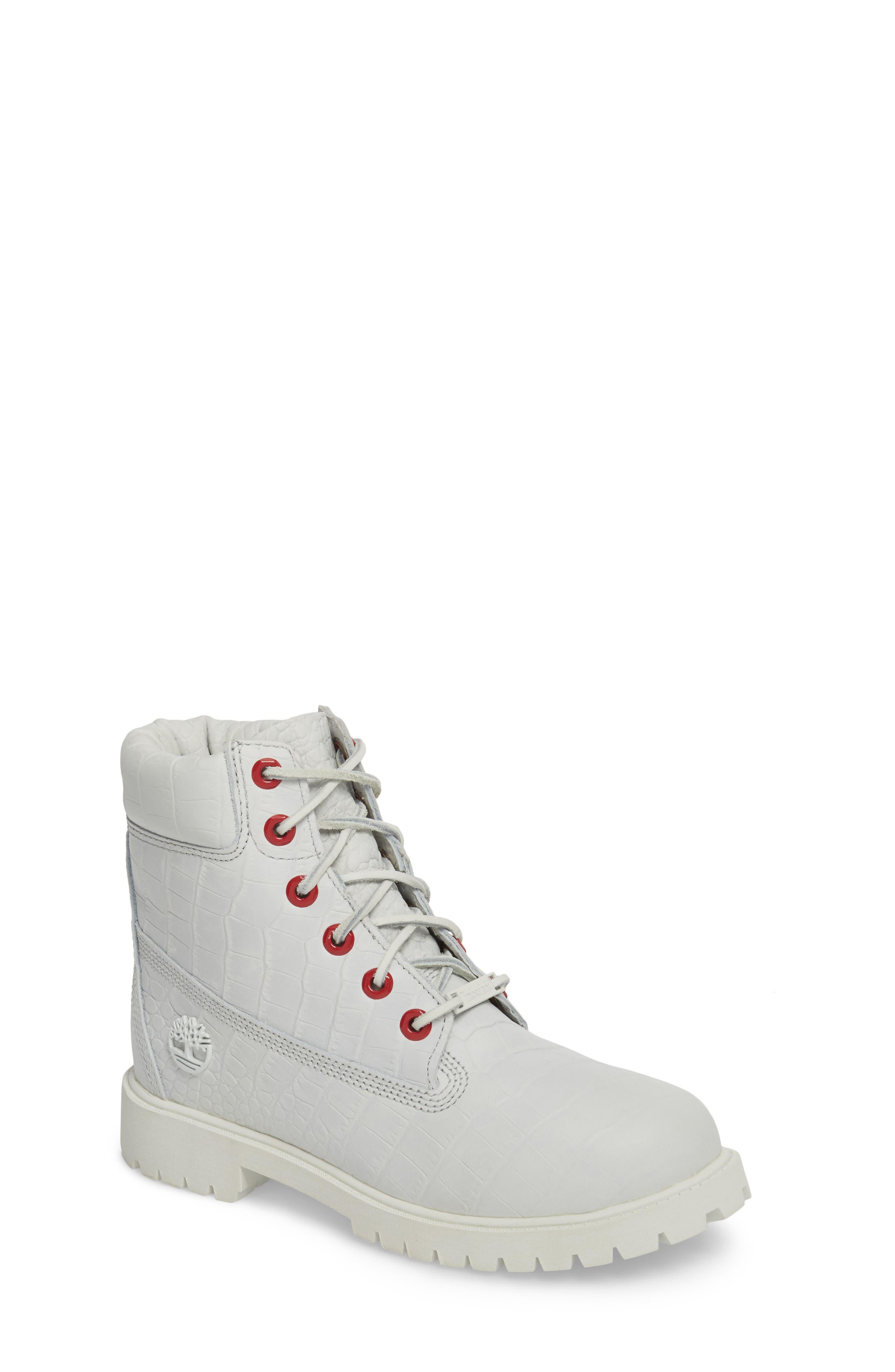 6-Inch Premium Waterproof Boot,                         Main,                         color, White Cardinal Exotic