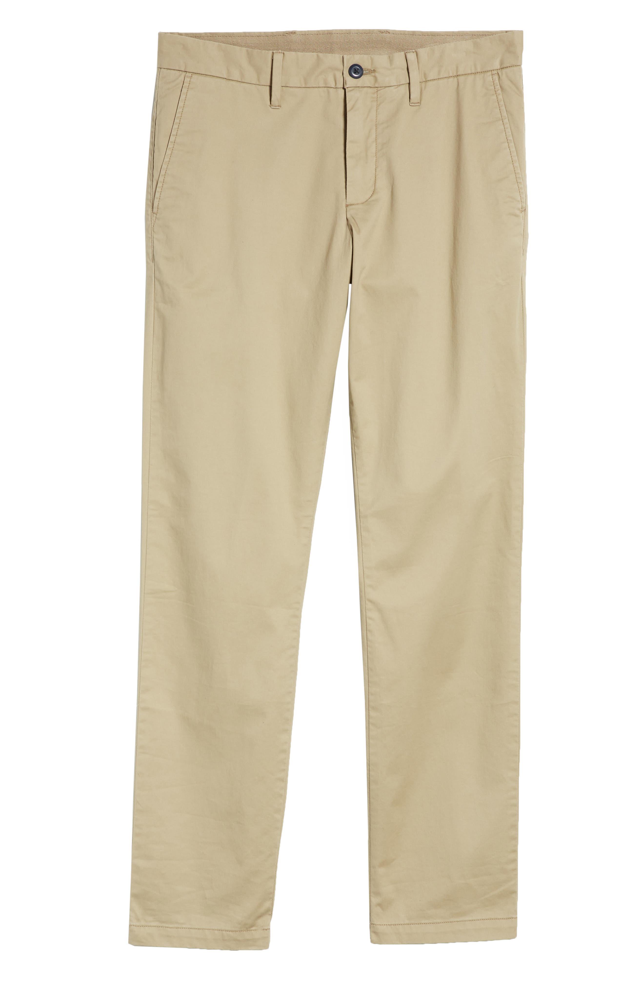 Ballard Slim Fit Stretch Chino Pants,                             Alternate thumbnail 6, color,                             Tan Burrow