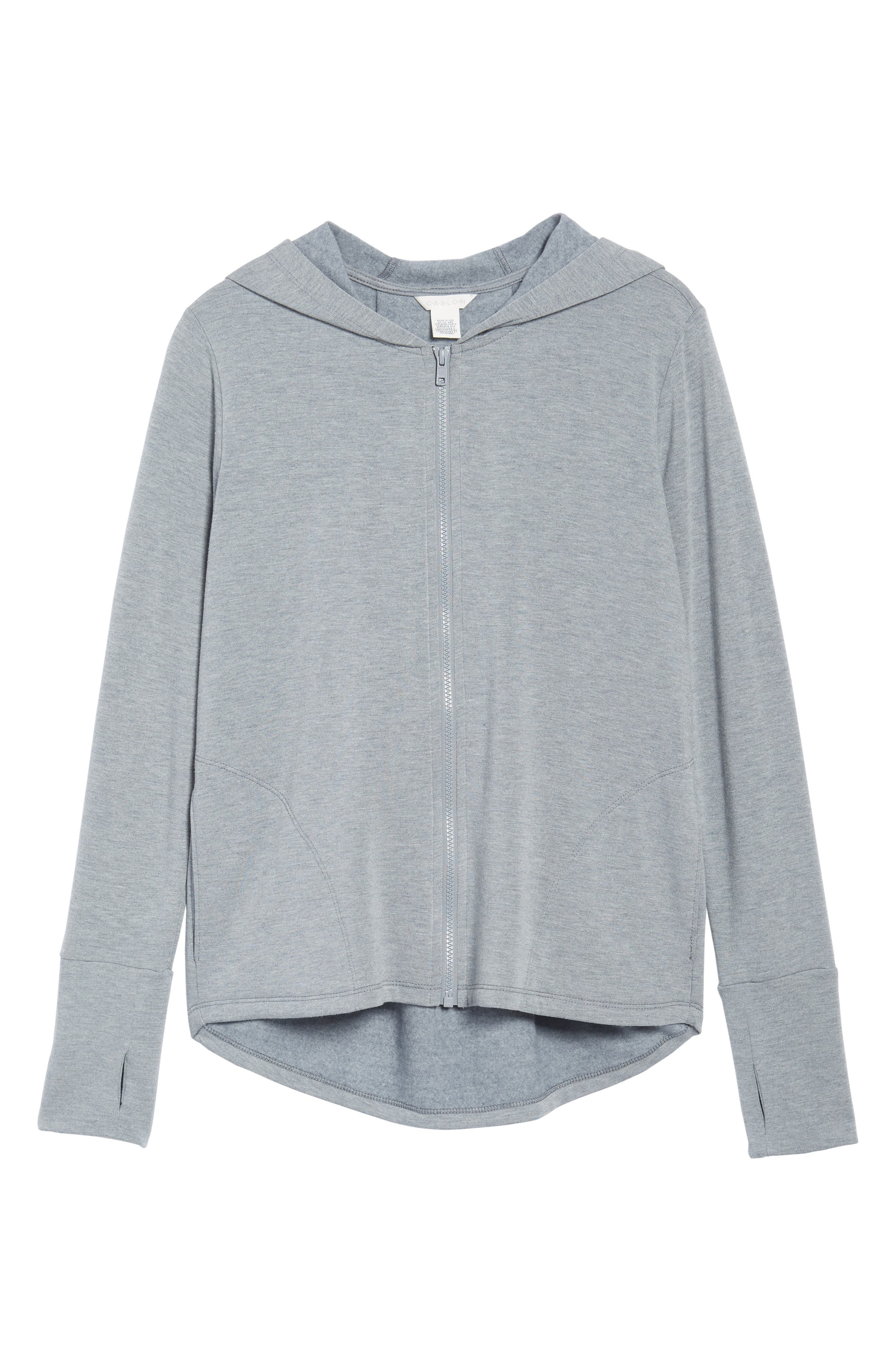 Off-Duty Zip Front Hooded Jacket,                             Alternate thumbnail 6, color,                             Grey