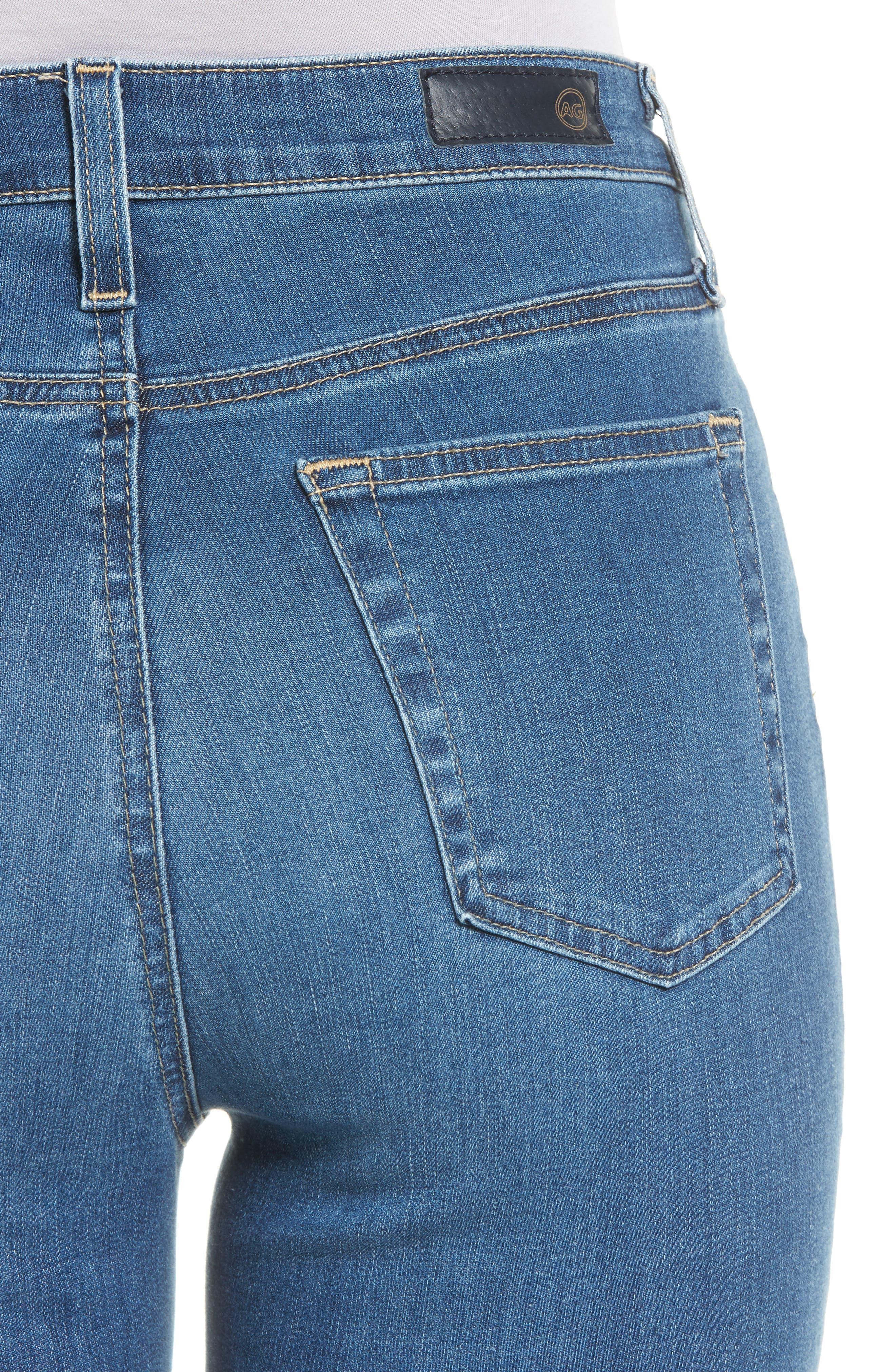 Mila High Waist Ankle Skinny Jeans,                             Alternate thumbnail 4, color,                             Indigo Viking