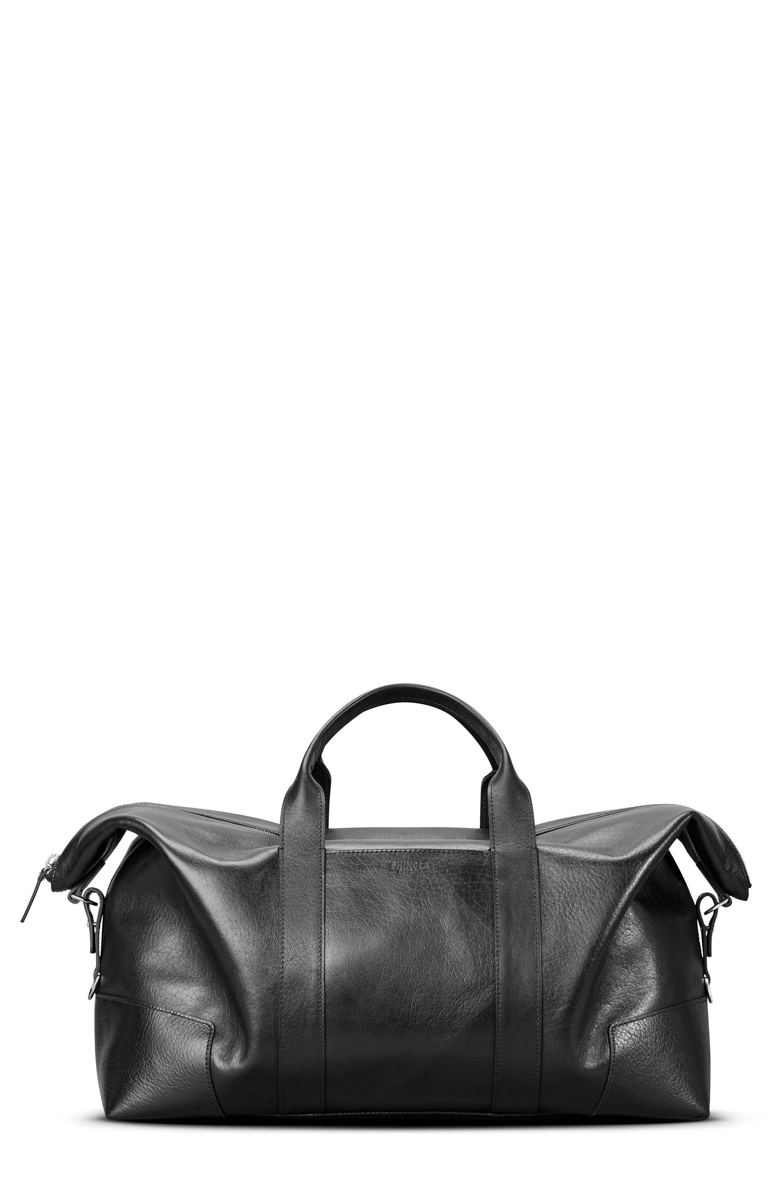 Alternate Image 1 Selected - Shinola Signature Leather Duffel Bag