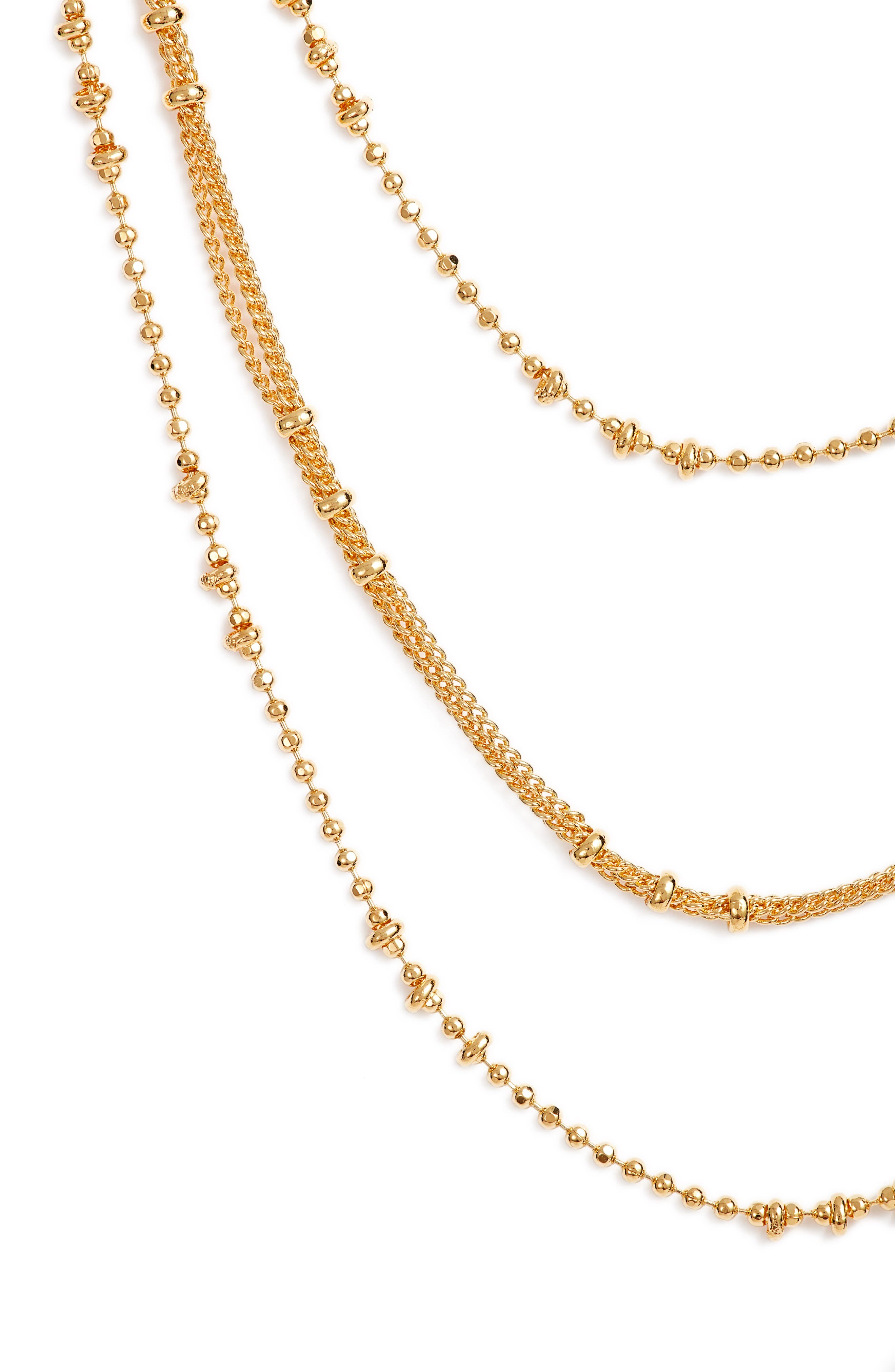 Margo 18K Layered Chain Necklace,                             Alternate thumbnail 2, color,                             Gold