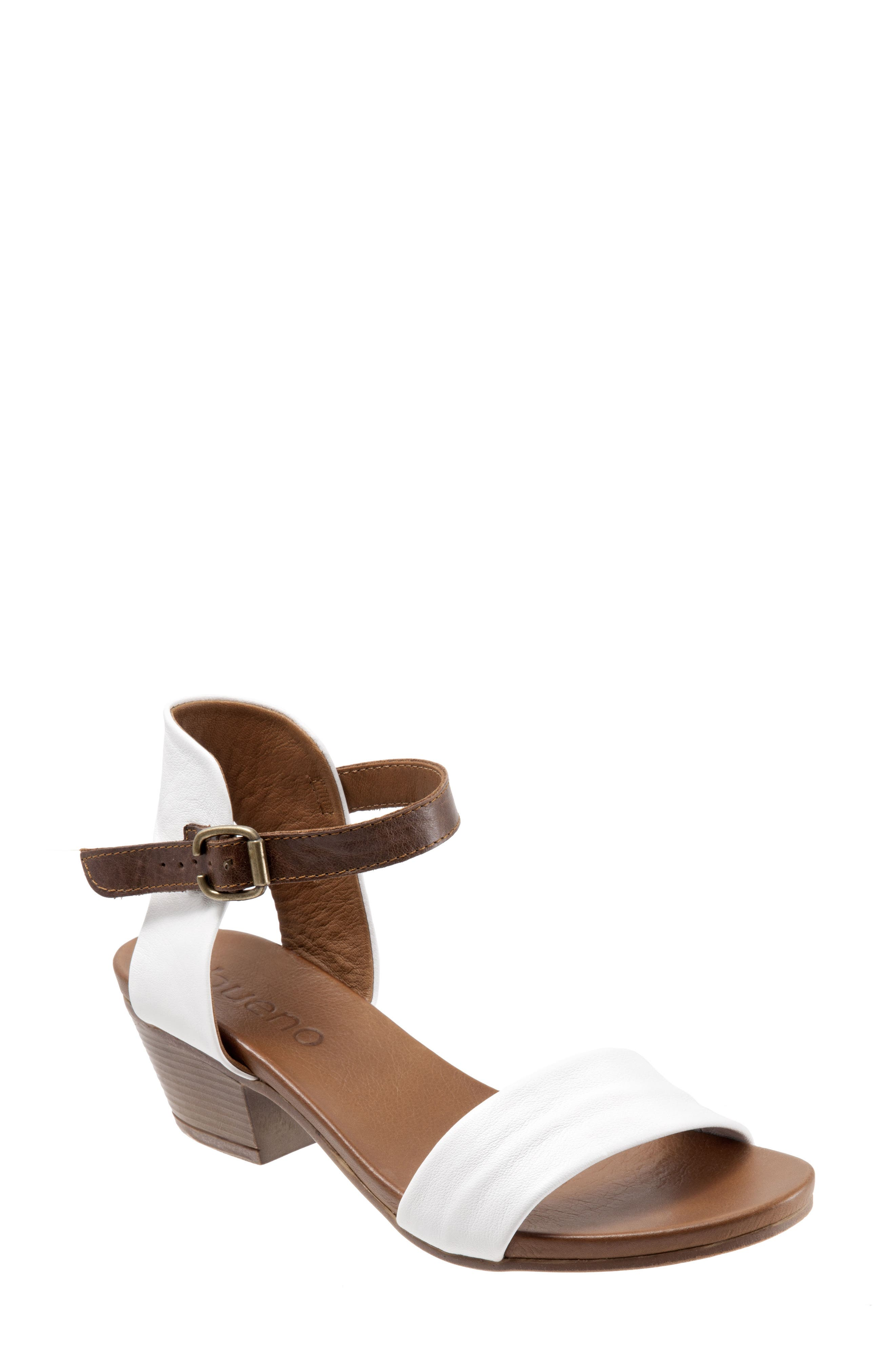 Sue Sandal,                         Main,                         color, White Leather