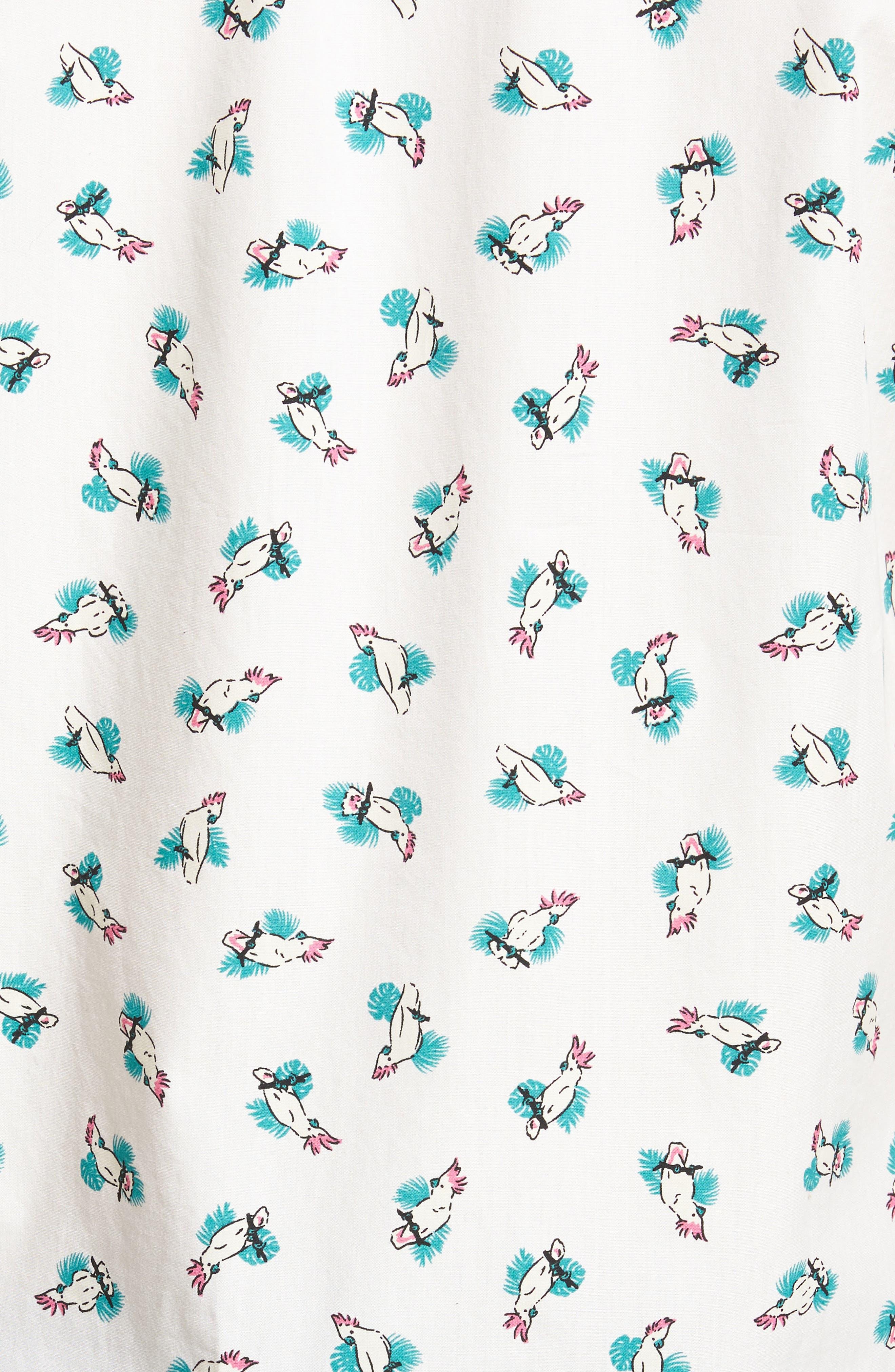Slim Fit Print Short Sleeve Sport Shirt,                             Alternate thumbnail 5, color,                             Cockatoo - Latigo Bay