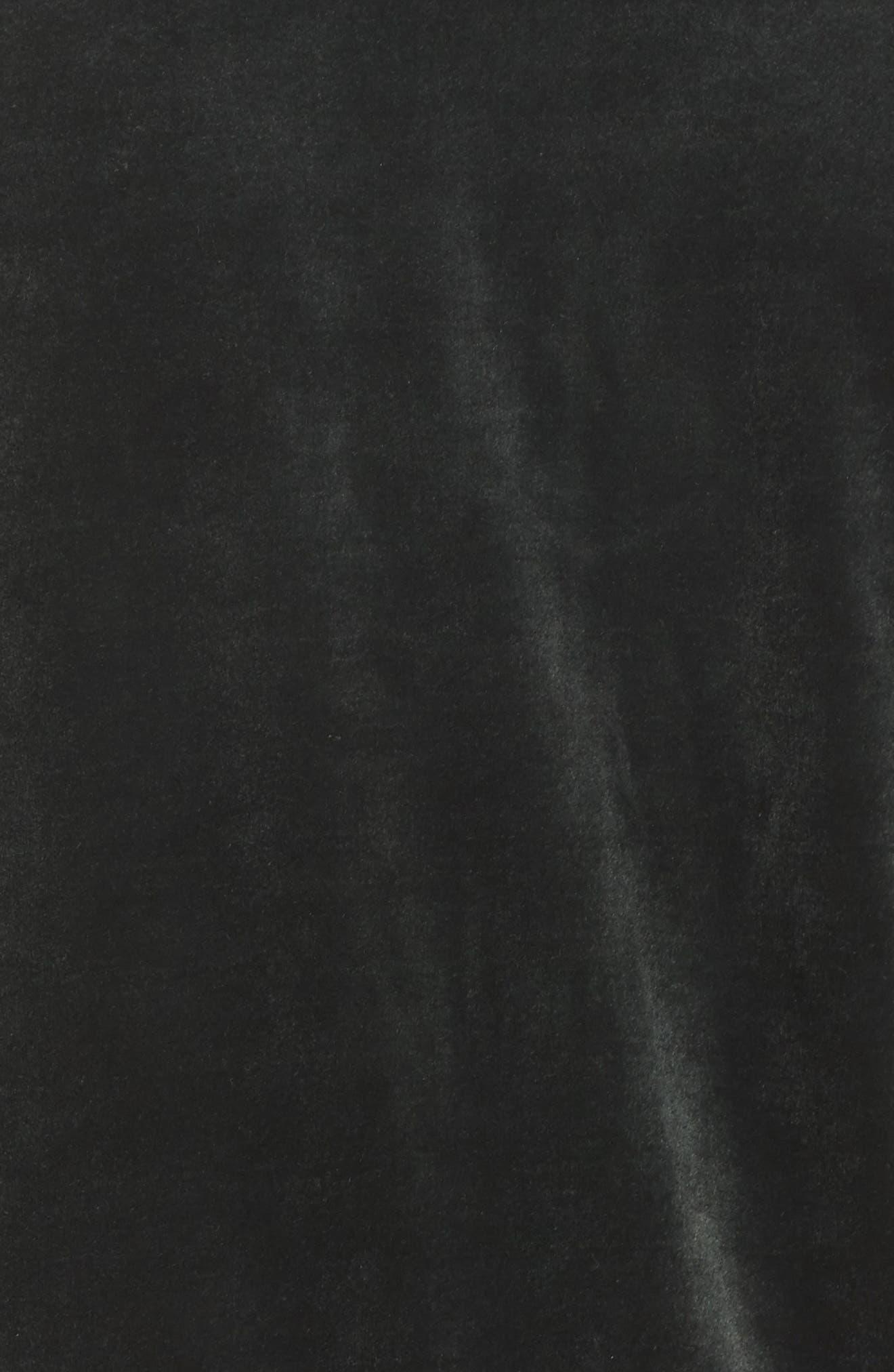 Velour Jacket,                             Alternate thumbnail 6, color,                             Outdoor Green/ Metallic Gold