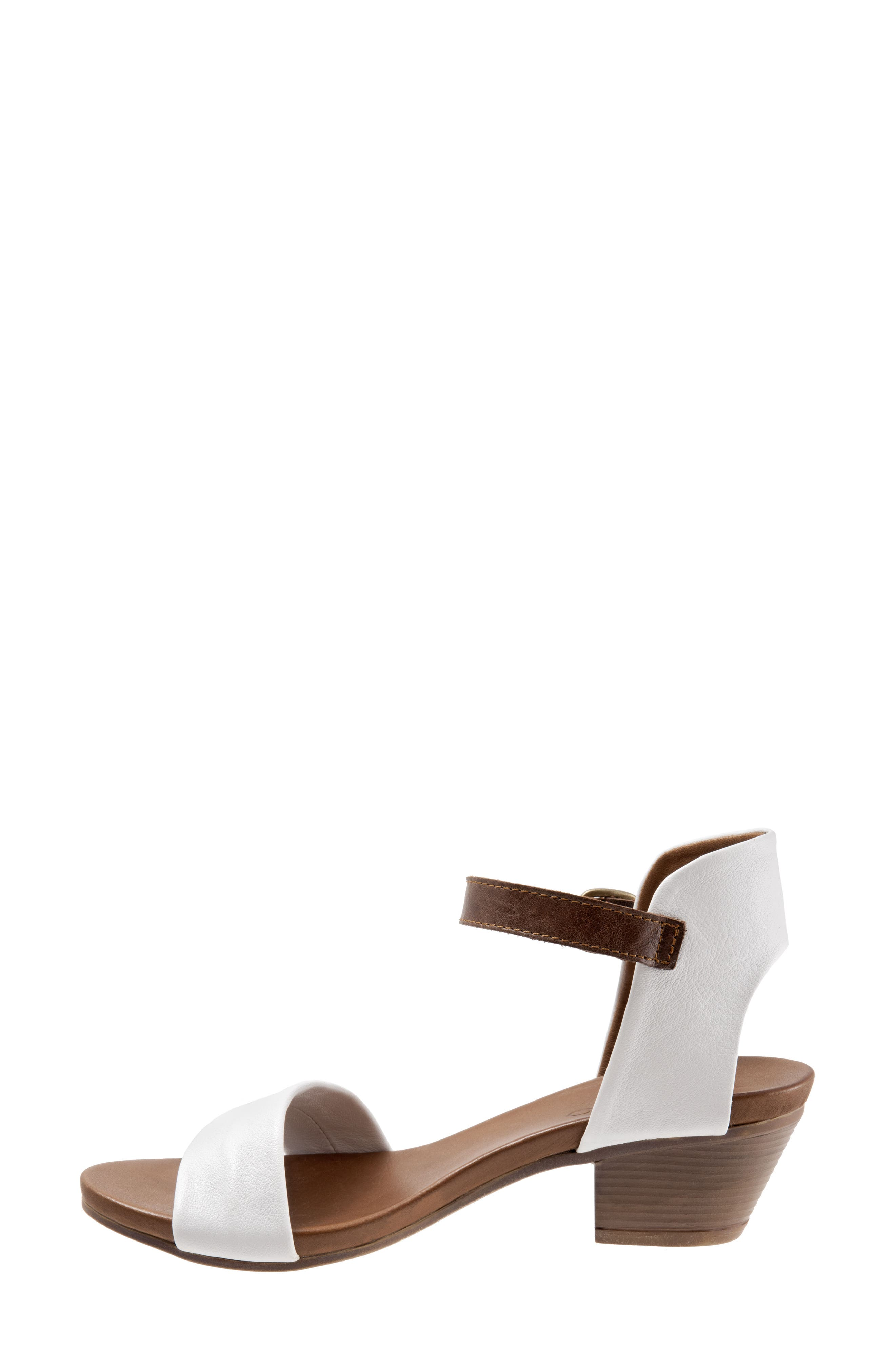 Sue Sandal,                             Alternate thumbnail 4, color,                             White Leather