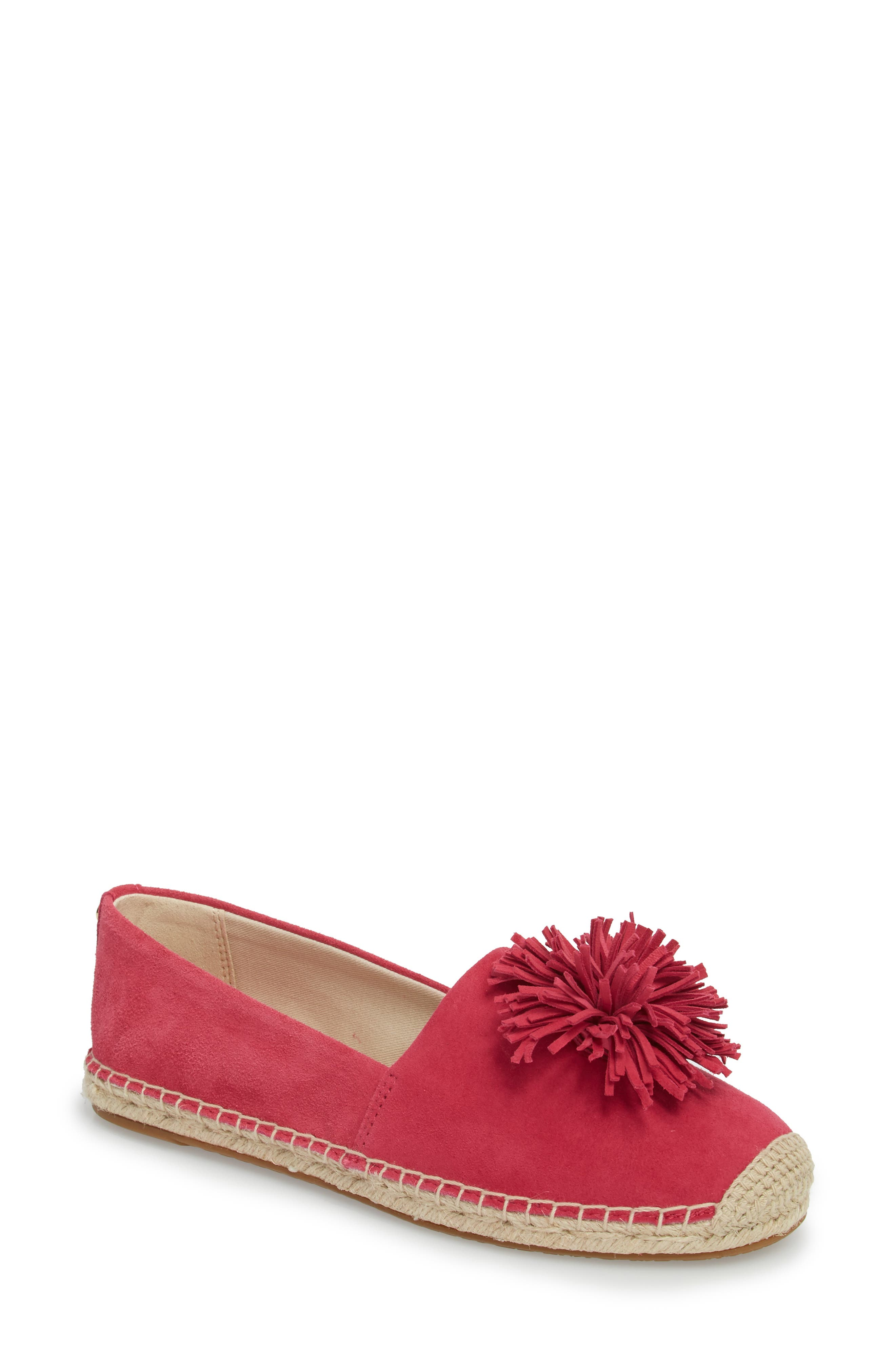 Lolita Slip-On,                             Main thumbnail 1, color,                             Ultra Pink Suede