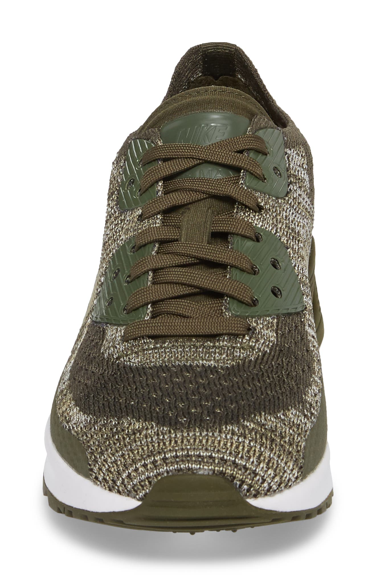 Air Max 90 Flyknit Ultra 2.0 Sneaker,                             Alternate thumbnail 5, color,                             Cargo Khaki/ Neutral Olive