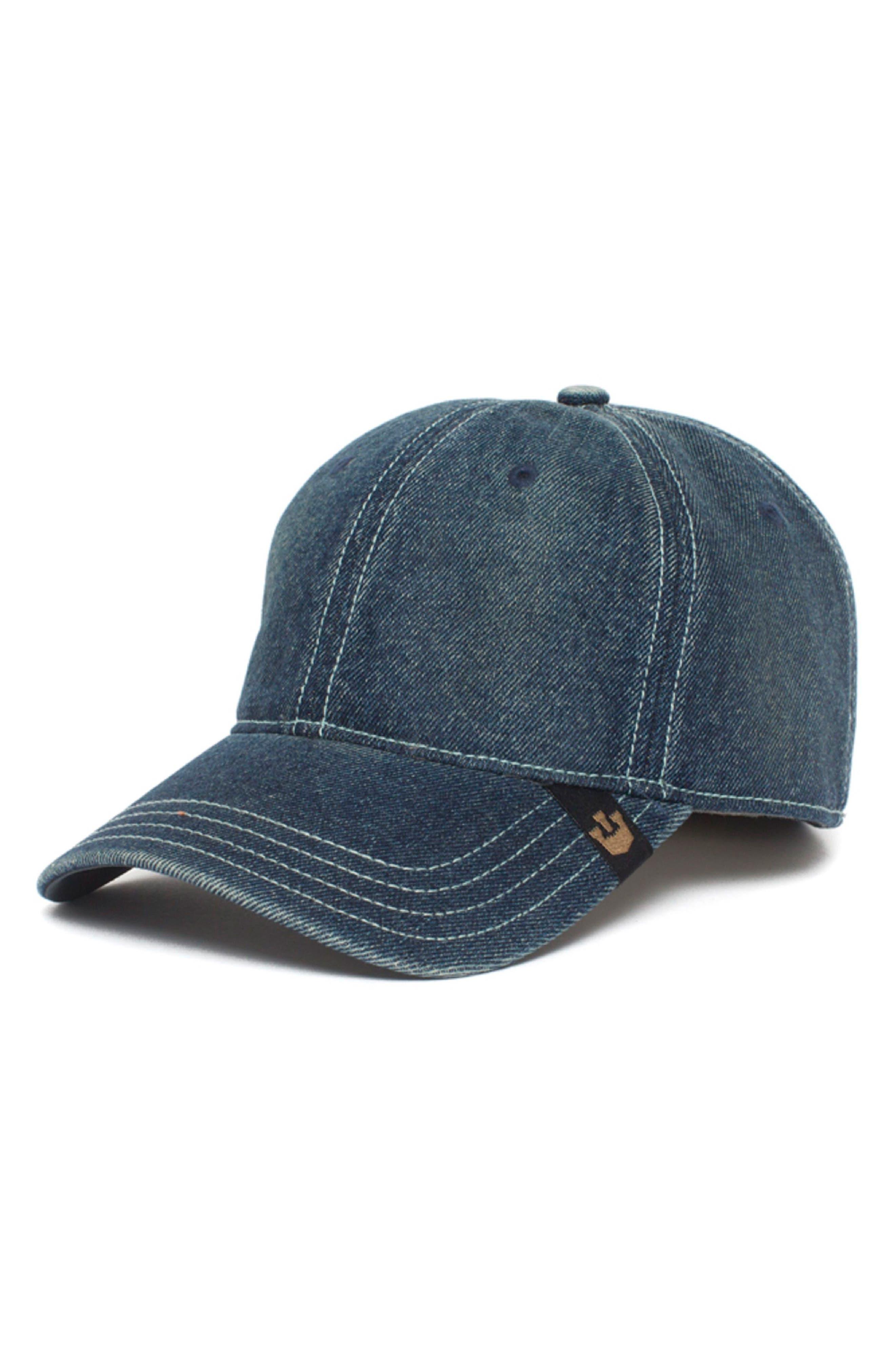 Denim Disco Baseball Cap,                             Main thumbnail 1, color,                             Blue