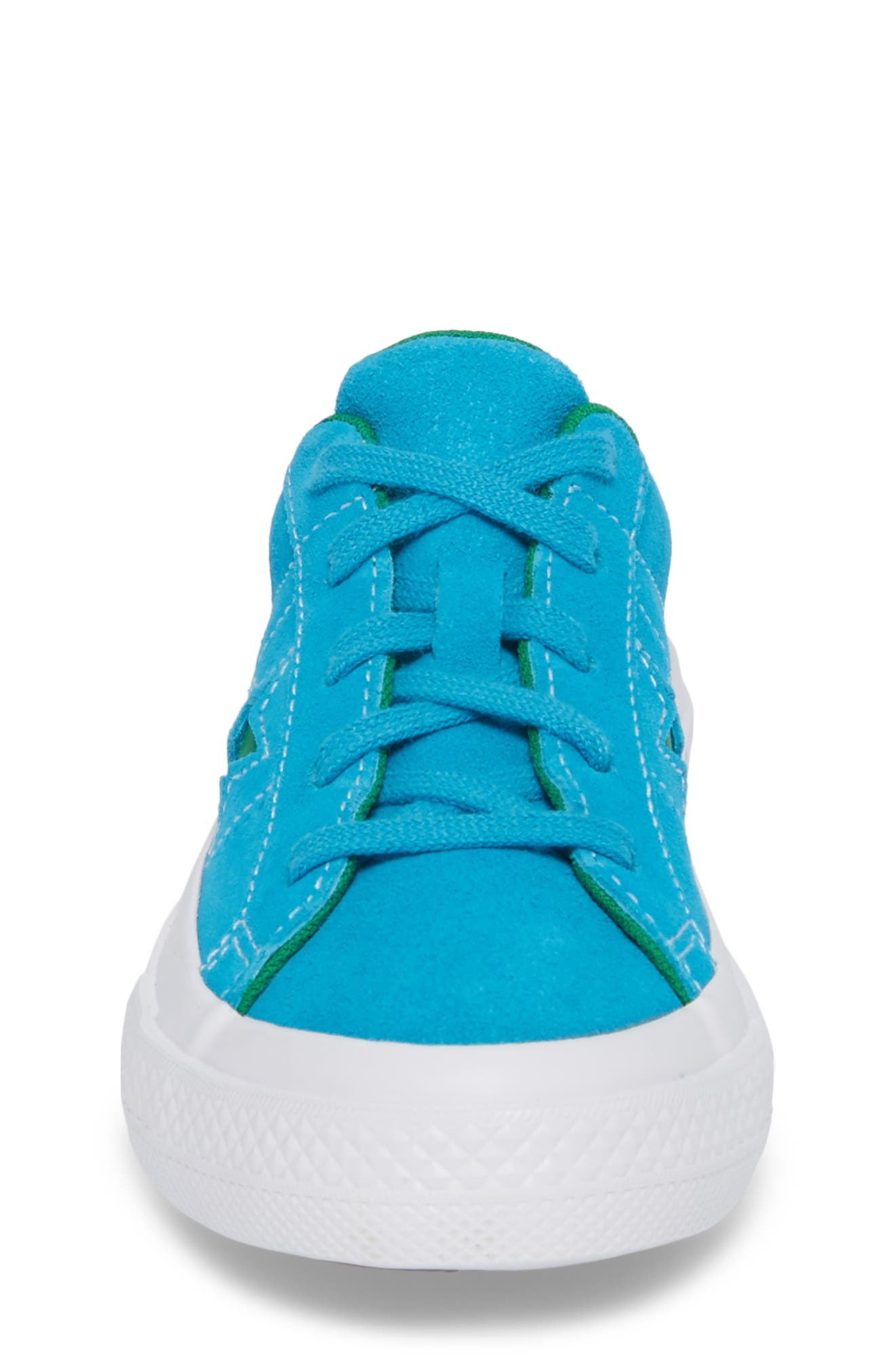 Chuck Taylor<sup>®</sup> All Star<sup>®</sup> One Star Leather Platform Sneaker,                             Alternate thumbnail 4, color,                             Hawaiian Ocean