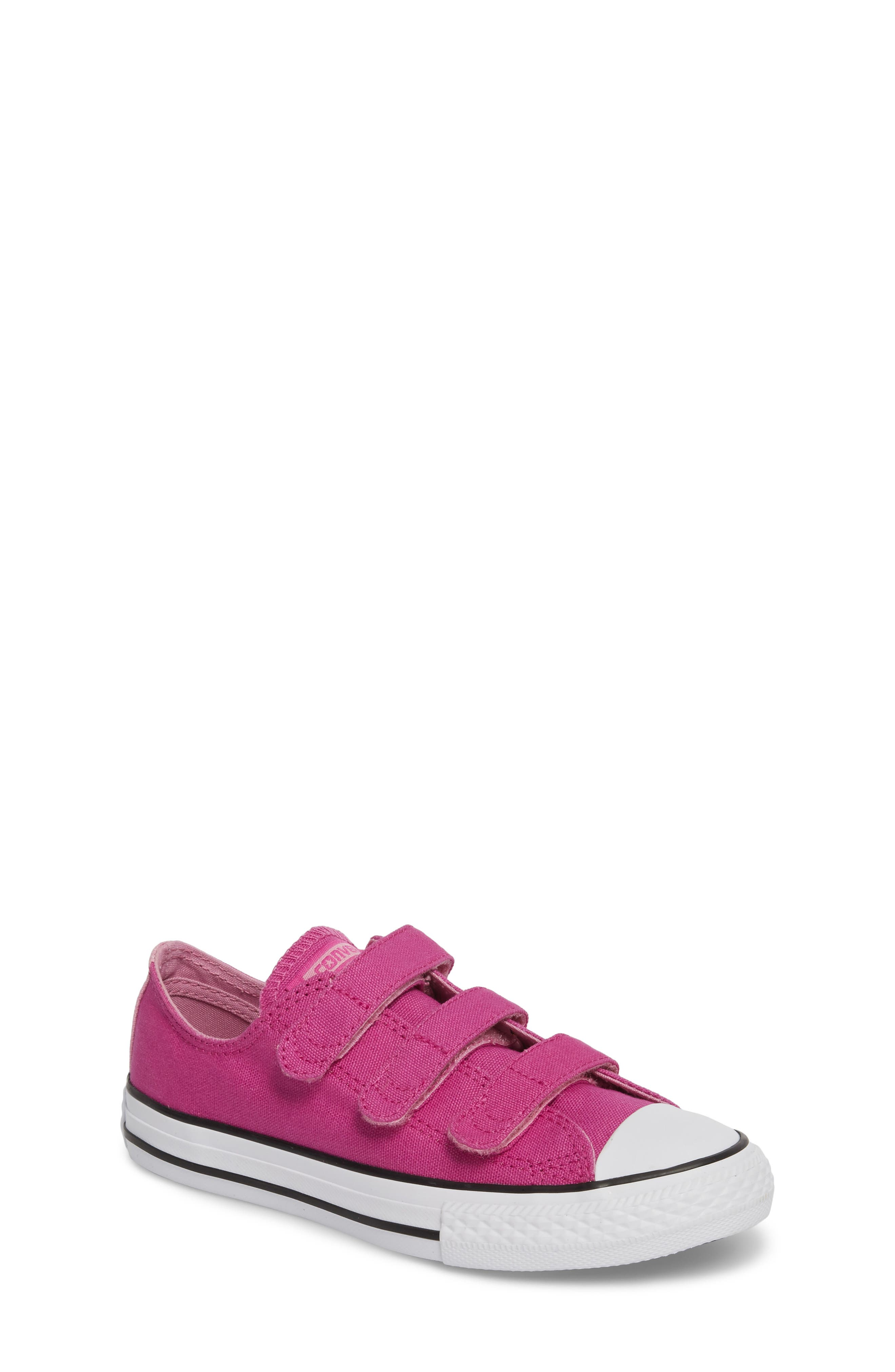 Chuck Taylor<sup>®</sup> All Star<sup>®</sup> 3V Low Top Sneaker,                         Main,                         color, Hyper Magenta