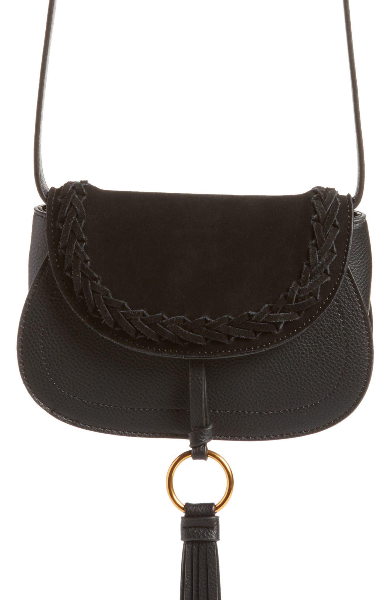Convertible Crossbody Bag,                             Alternate thumbnail 7, color,                             Black