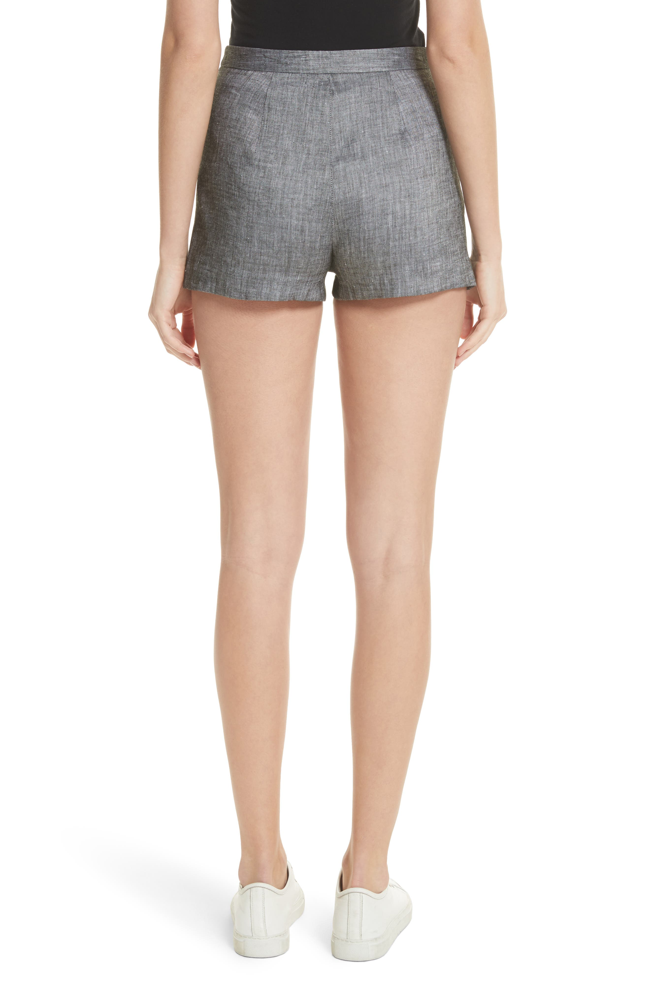 Trudee High Waist Shorts,                             Alternate thumbnail 2, color,                             Olive