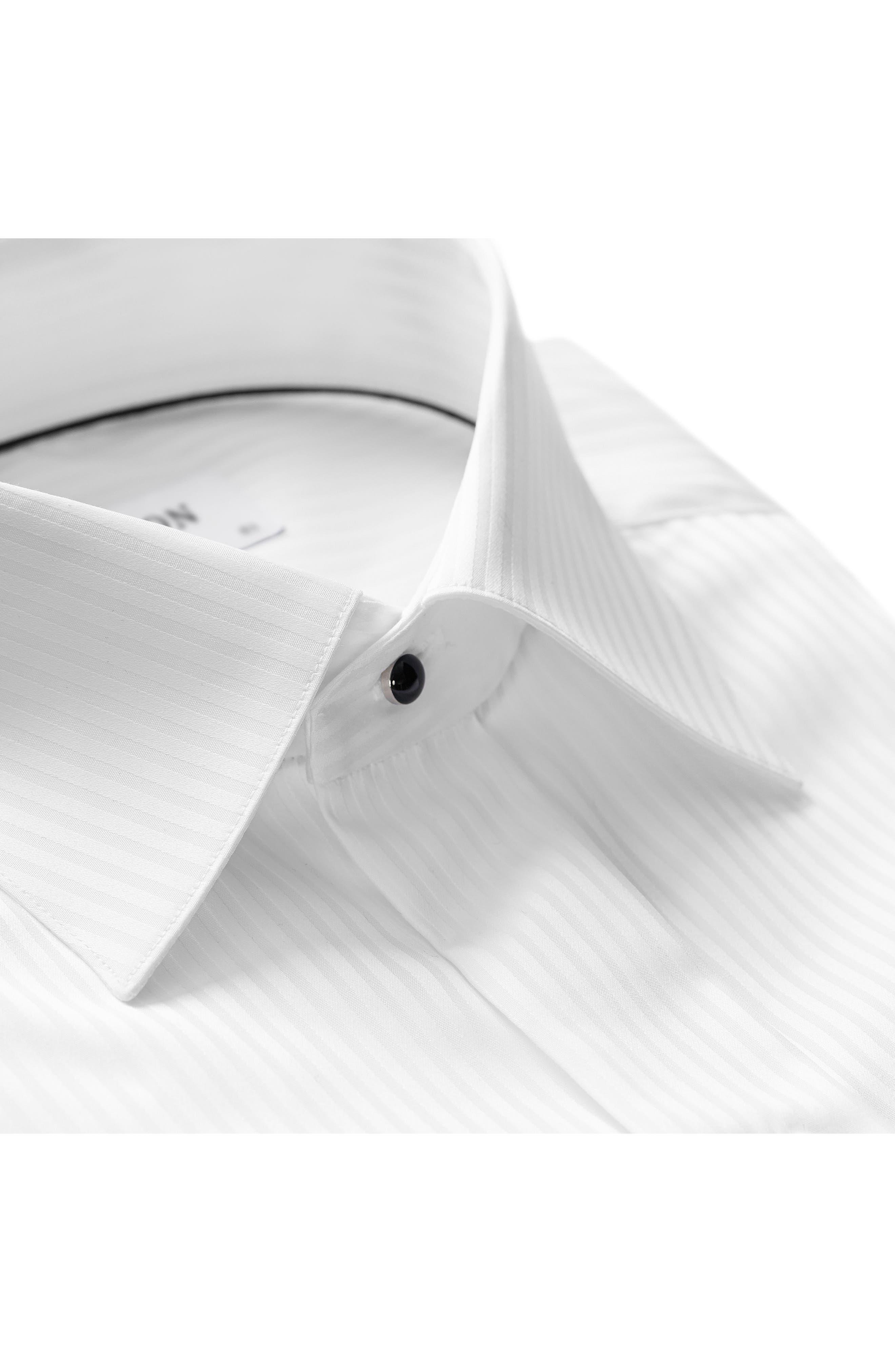 Contemporary Fit Tuxedo Shirt,                             Alternate thumbnail 2, color,                             White