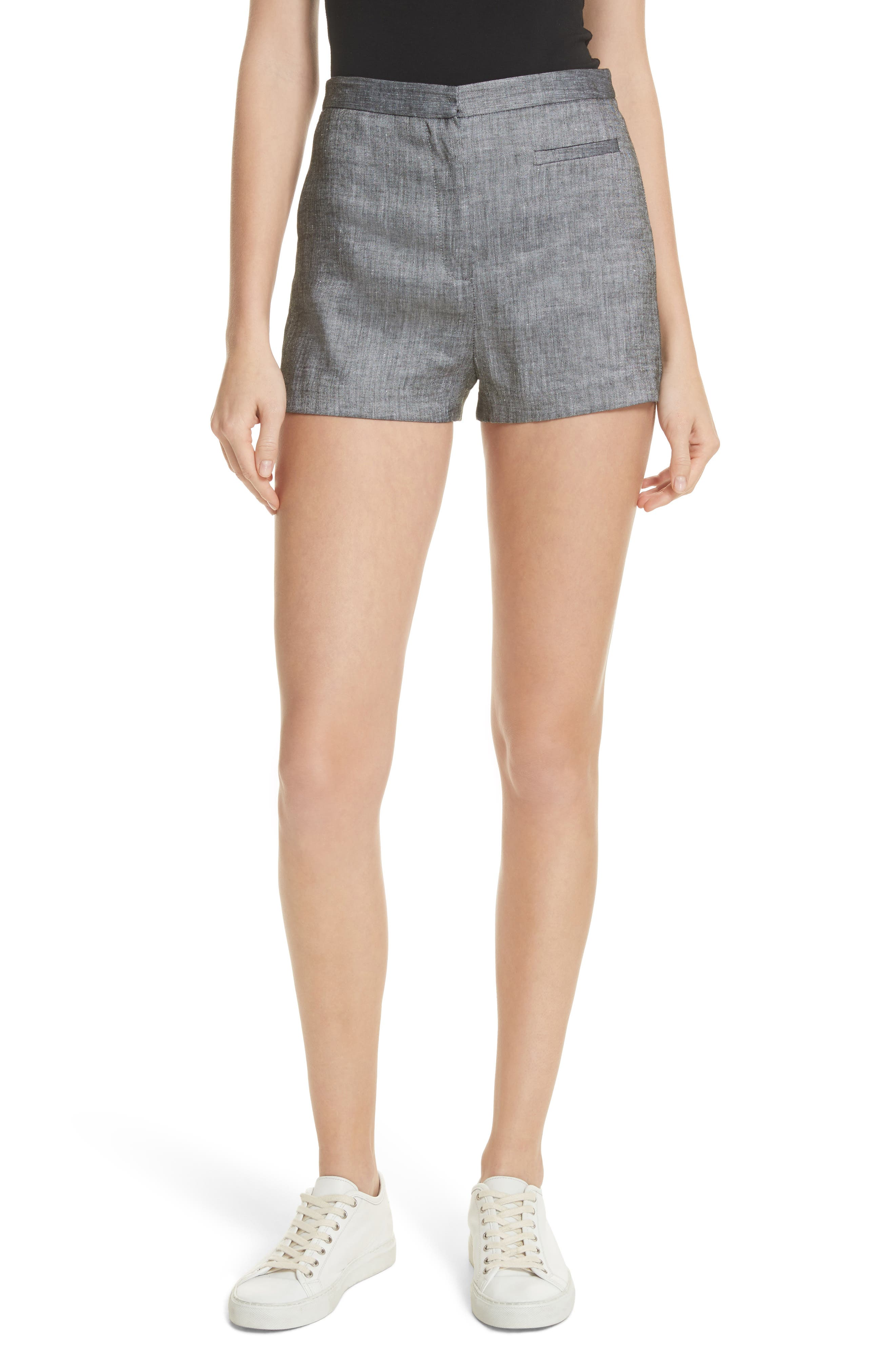 Trudee High Waist Shorts,                             Main thumbnail 1, color,                             Olive
