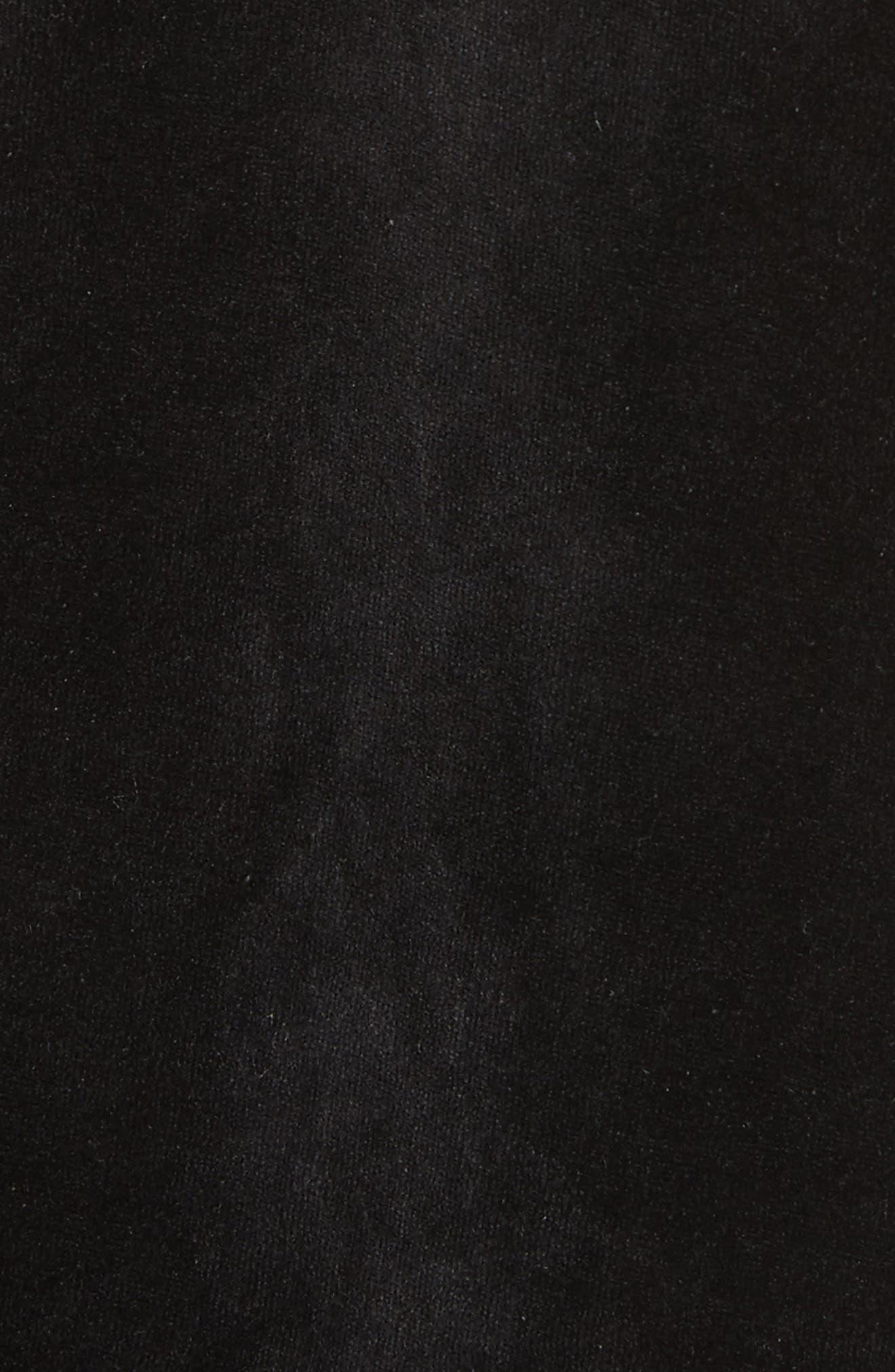 Velour T-Shirt,                             Alternate thumbnail 5, color,                             Black
