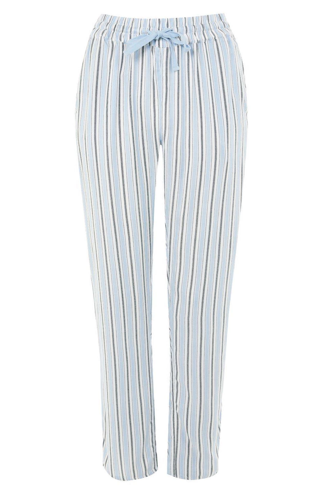 Bobby Stripe Pajama Pants,                             Alternate thumbnail 3, color,                             Blue Multi