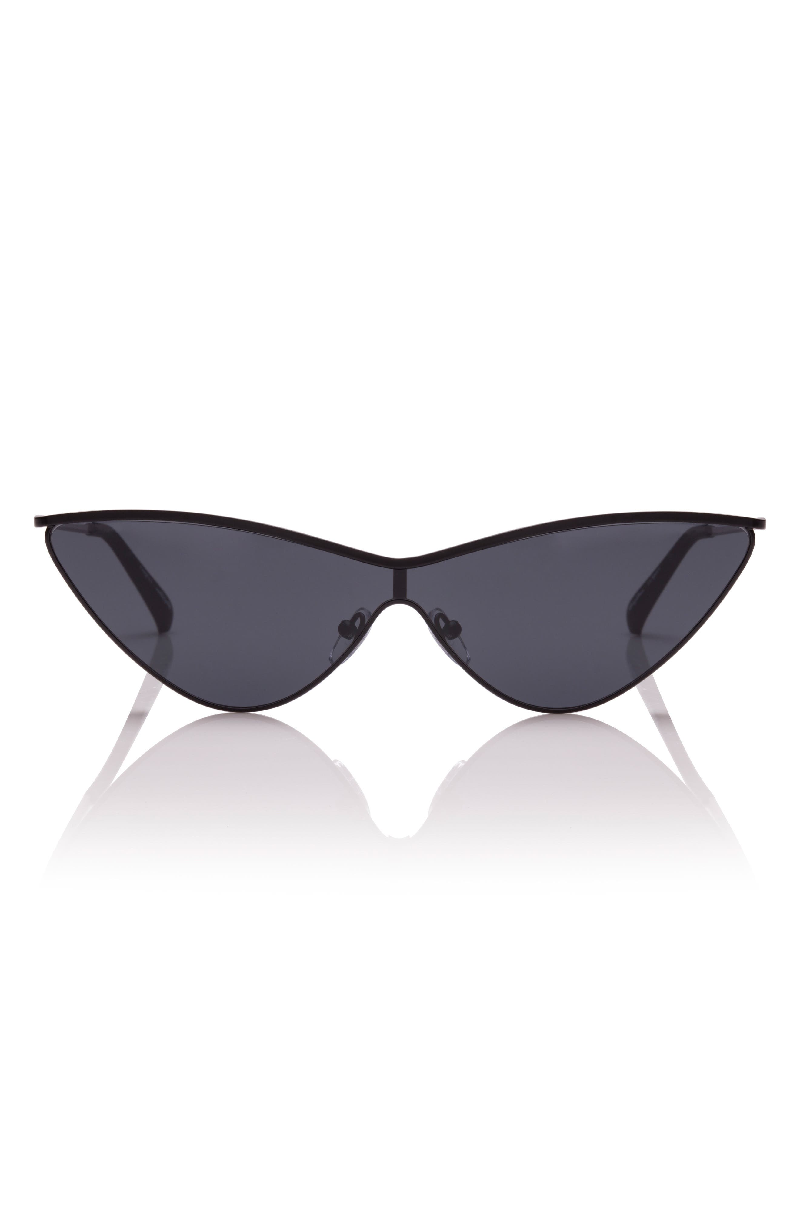 The Fugitive 71mm Sunglasses,                             Main thumbnail 1, color,                             Black/ Red