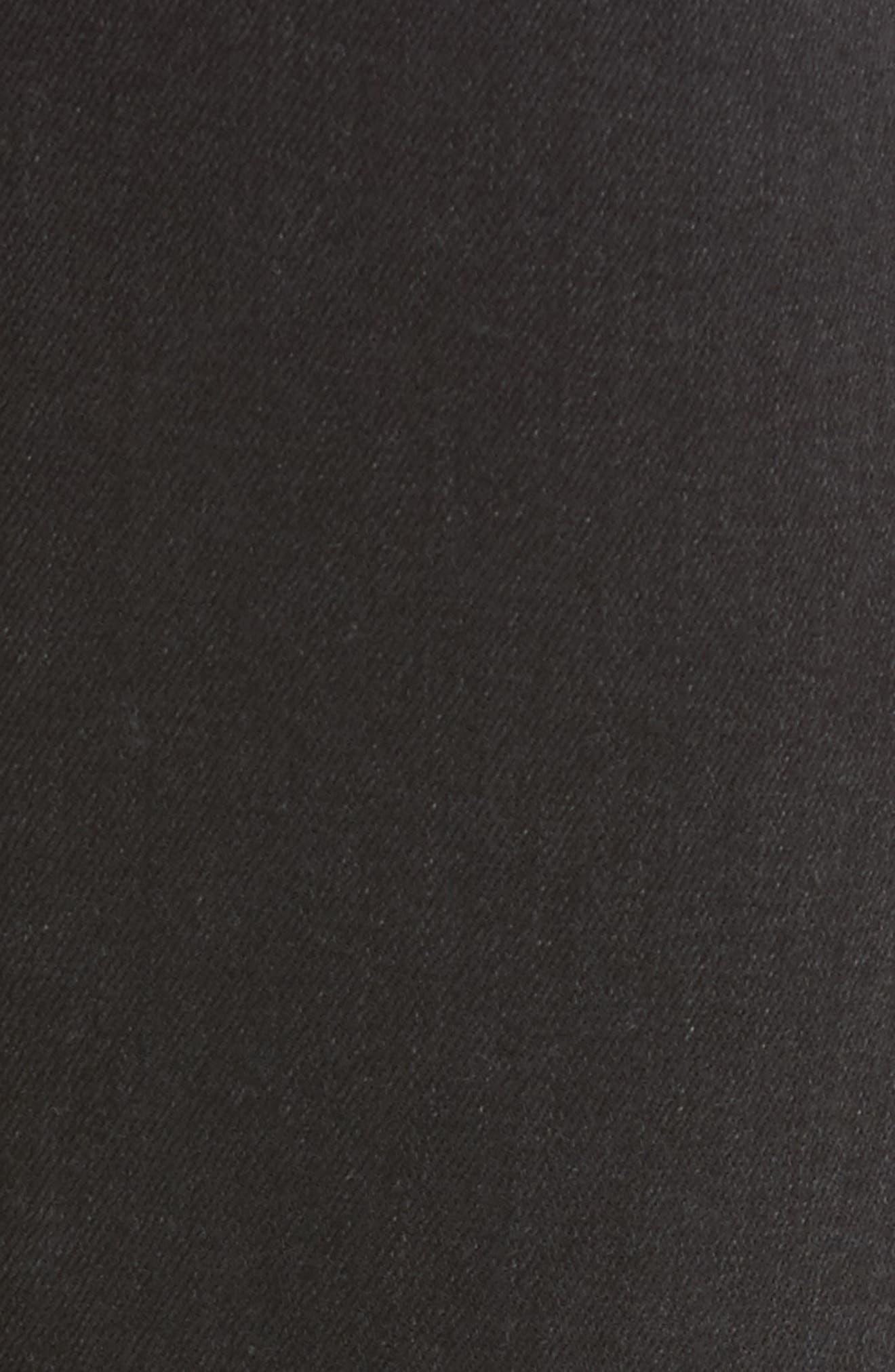 Transcend - Hoxton High Waist Ultra Skinny Jeans,                             Alternate thumbnail 6, color,                             Black Fog