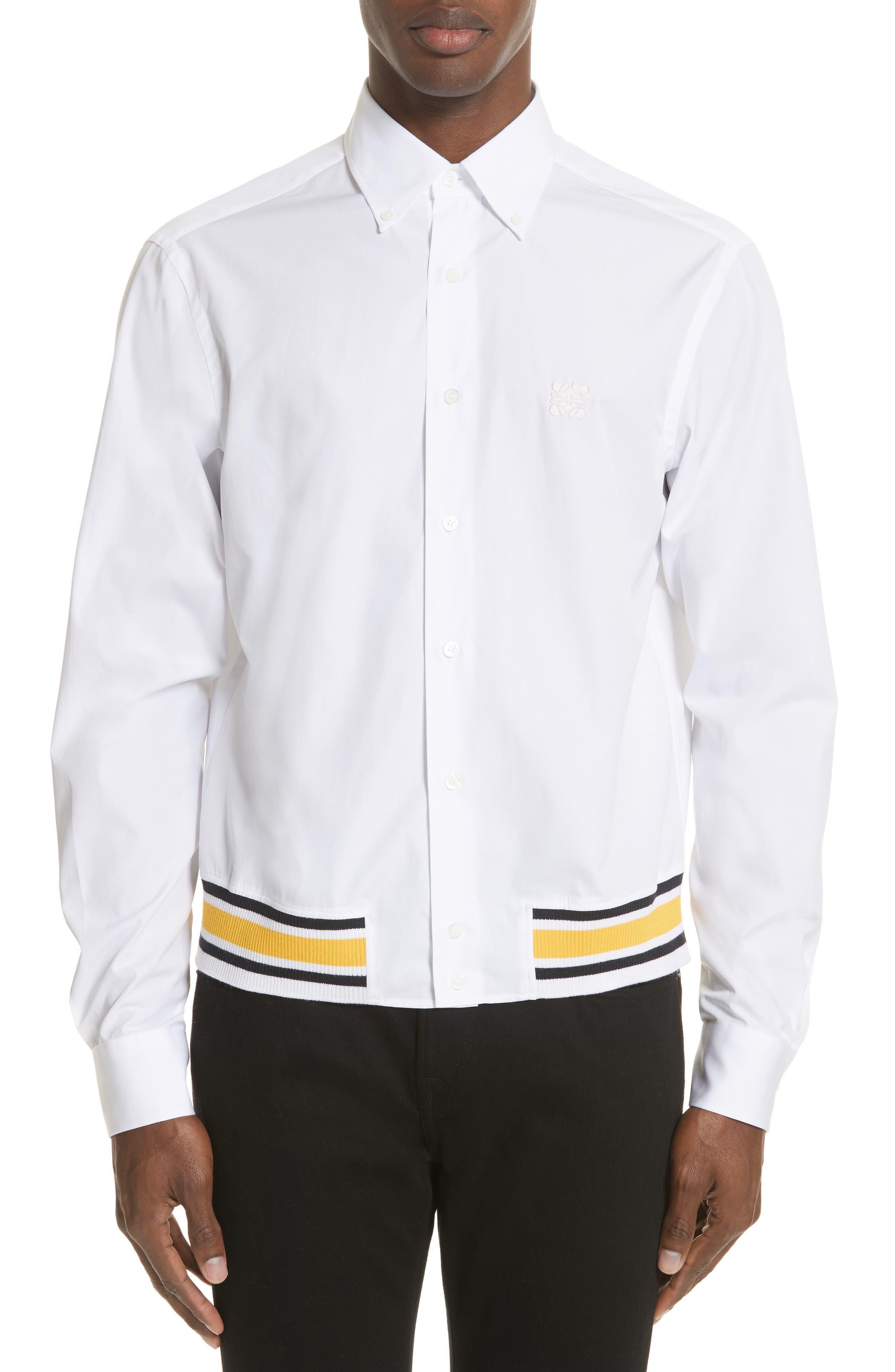 Blouson Hem Shirt,                         Main,                         color, White