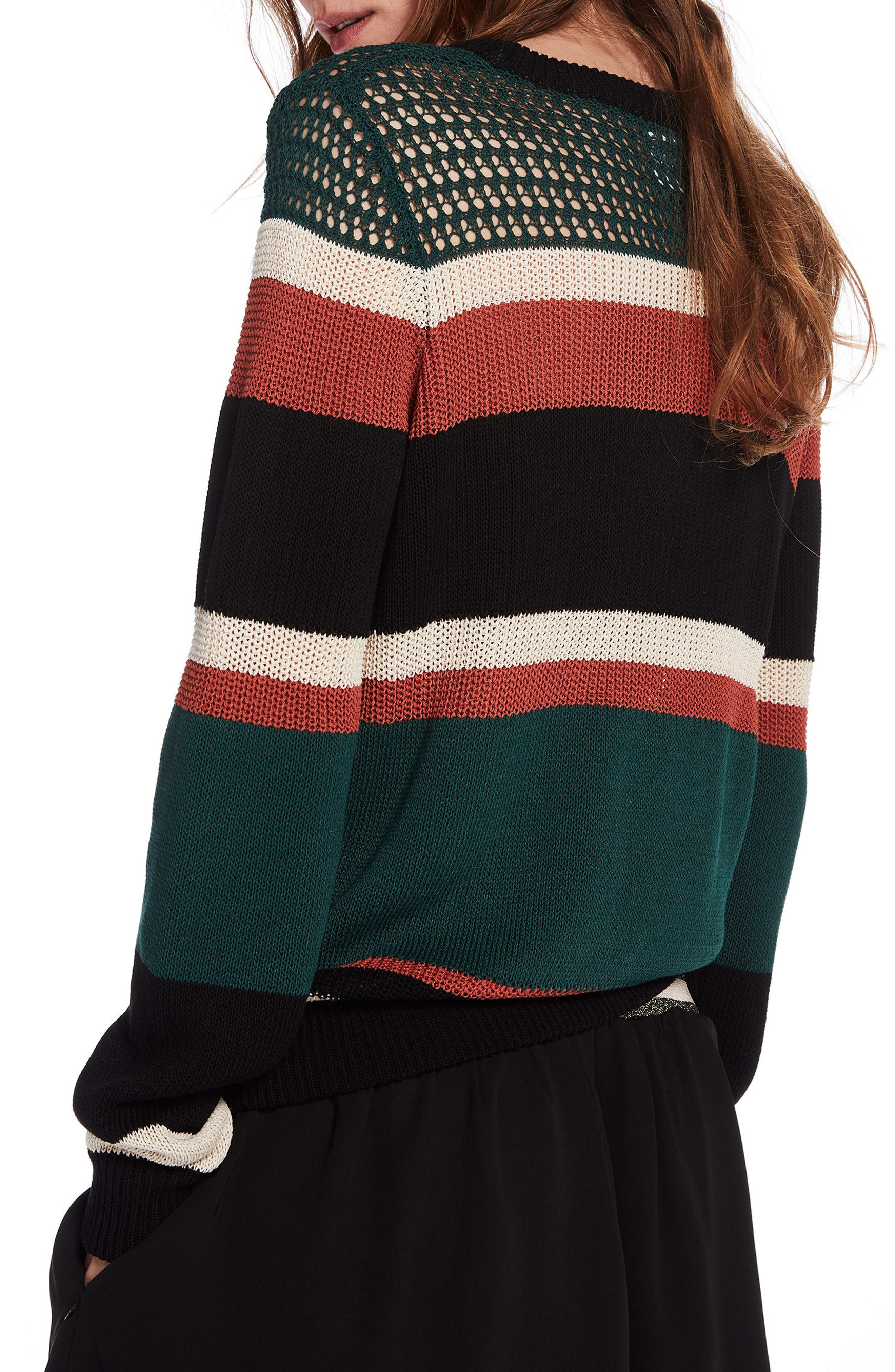 Stripe Crewneck Sweater,                             Alternate thumbnail 2, color,                             Combo A