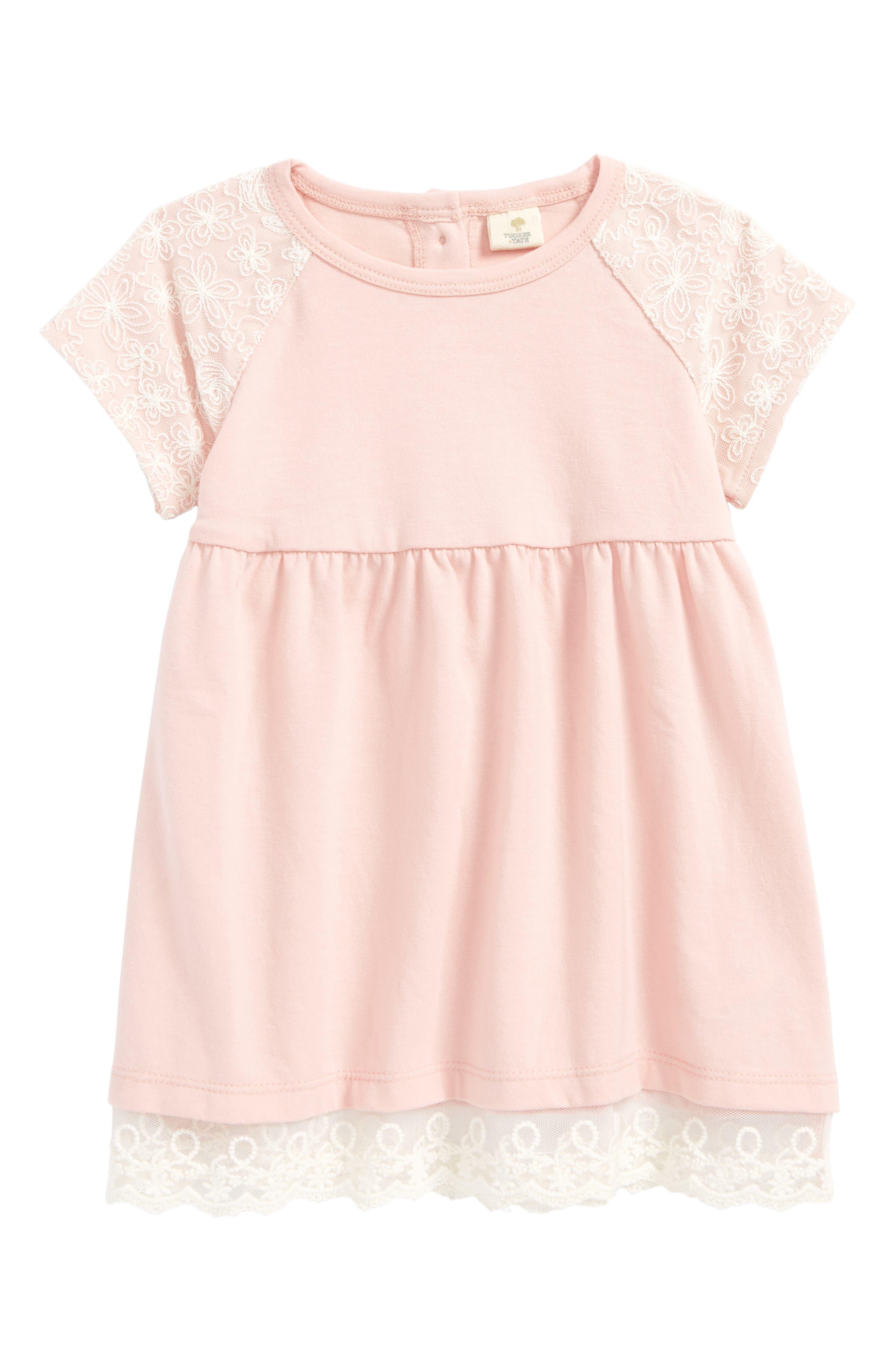 Jersey Dress,                             Main thumbnail 1, color,                             Pink Silver