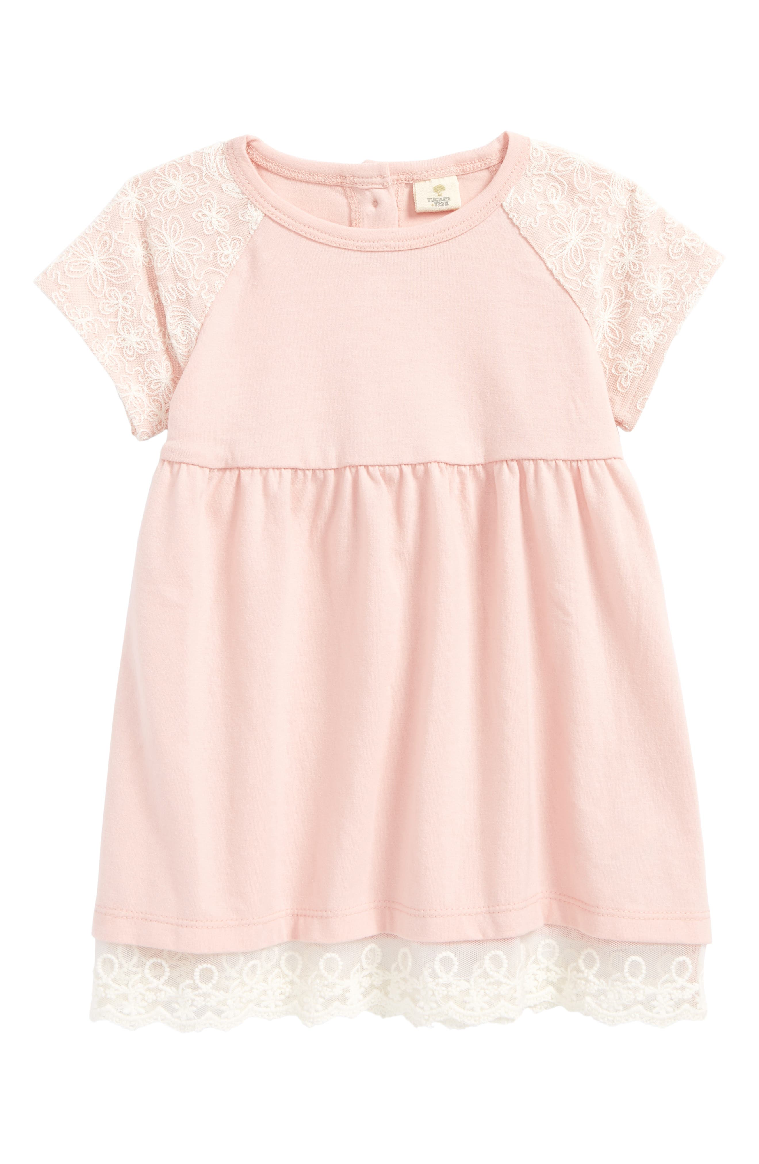 Jersey Dress,                         Main,                         color, Pink Silver