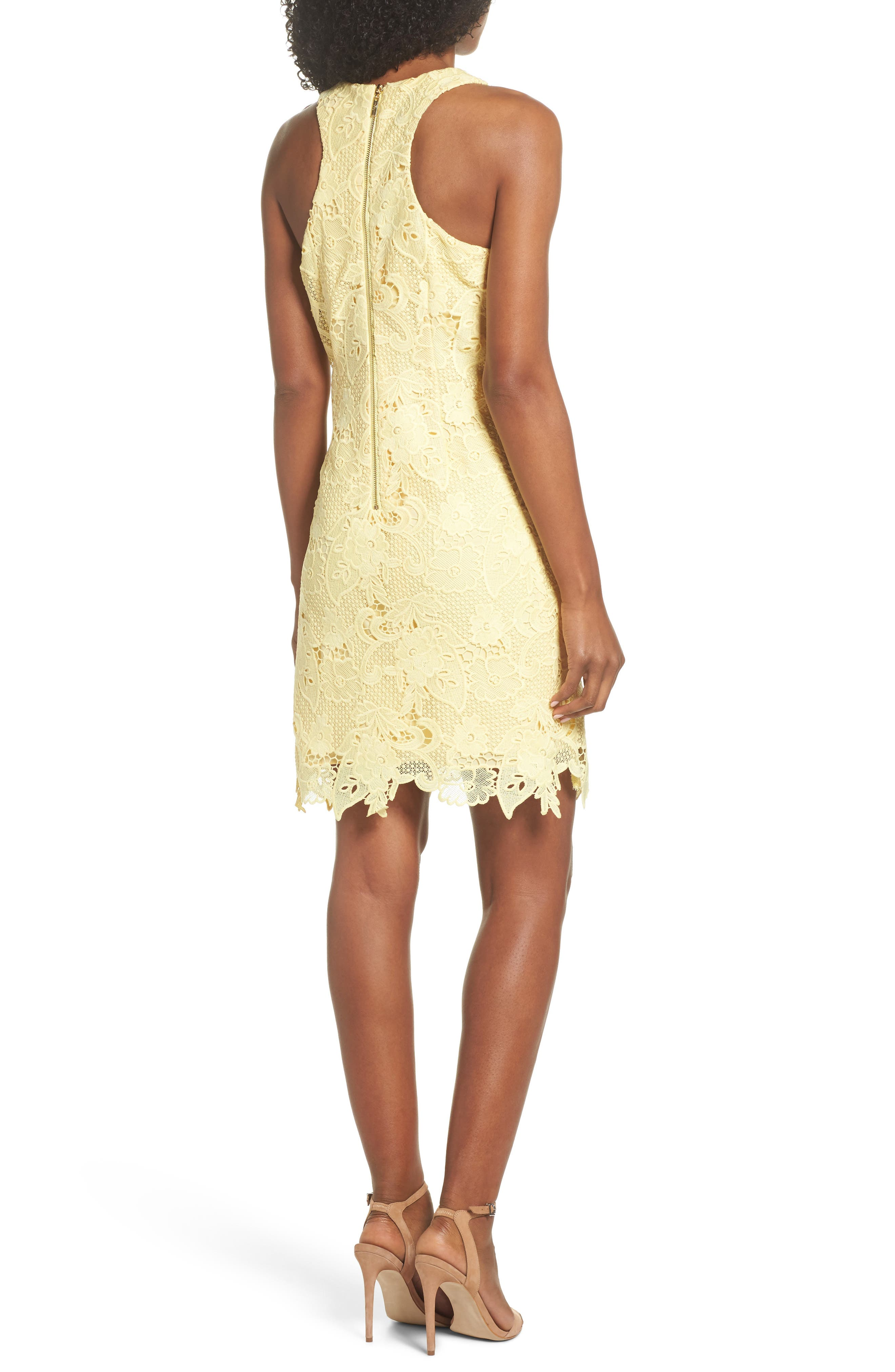 Alternate Image 2  - Eliza J Lace Sheath Dress
