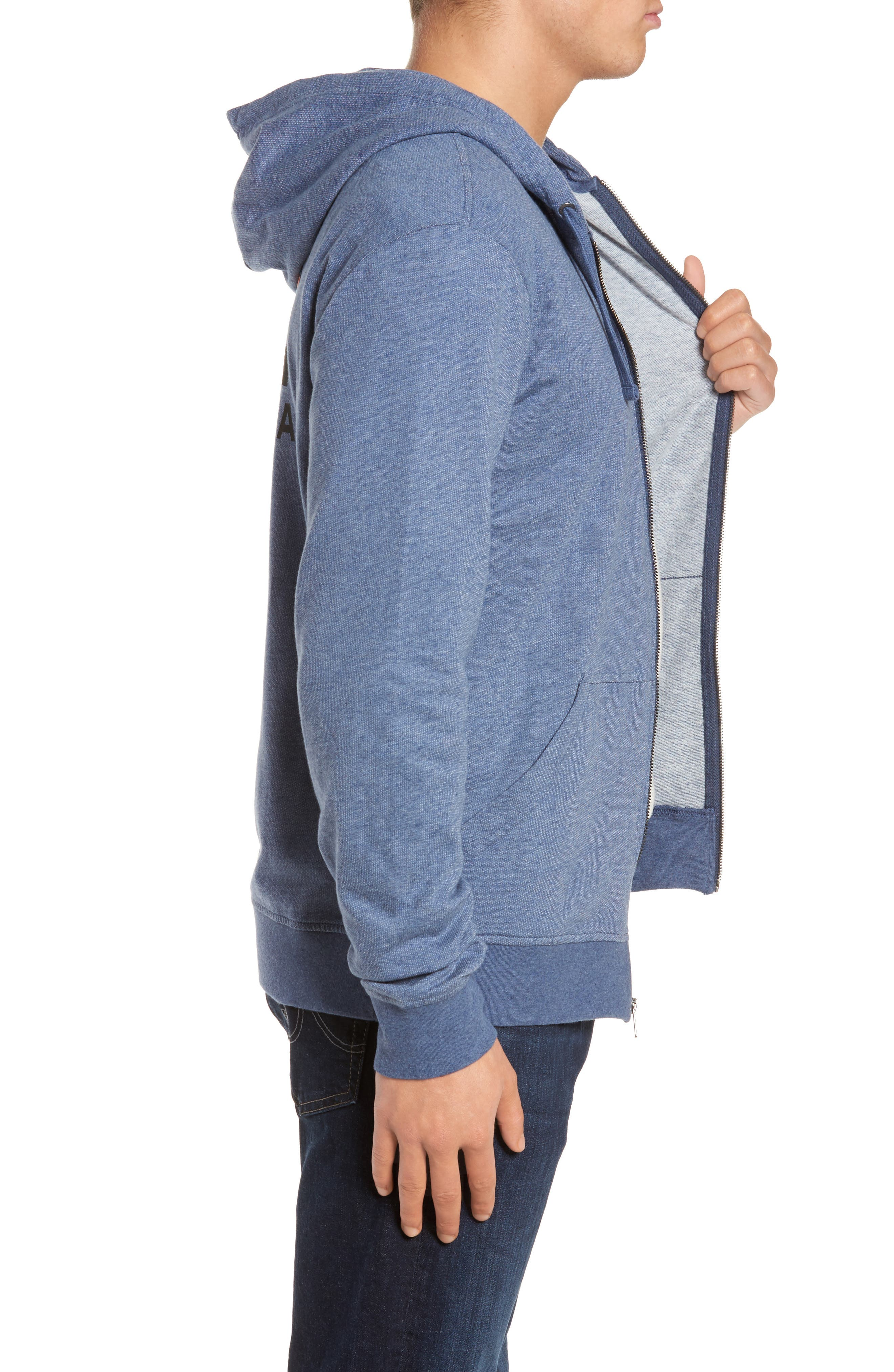 Fitz Roy Frostbite PolyCycle<sup>®</sup> Full Zip Hoodie,                             Alternate thumbnail 3, color,                             Dolomite Blue