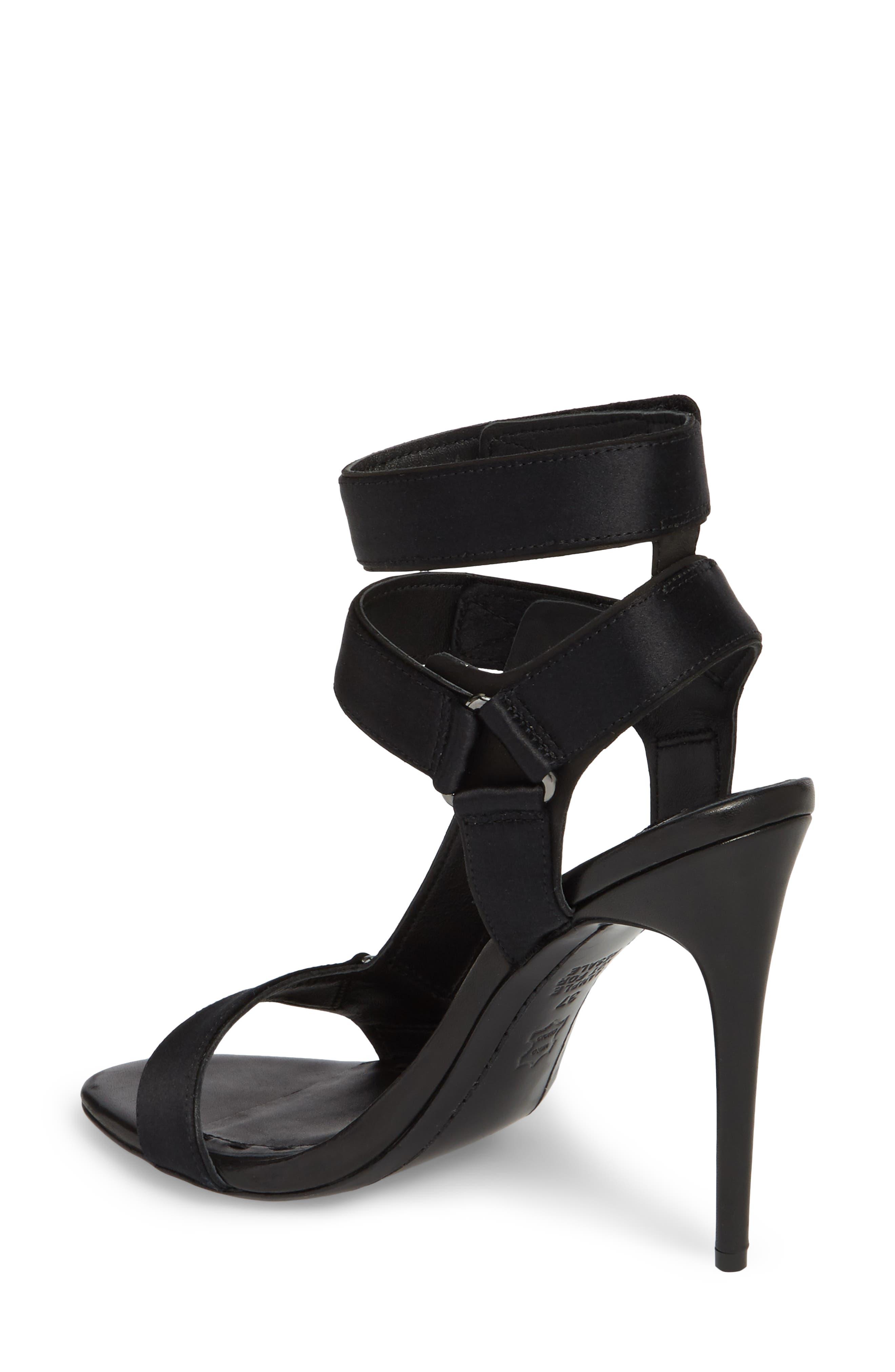 Tamryn Studded Ankle Strap Sandal,                             Alternate thumbnail 2, color,                             Black