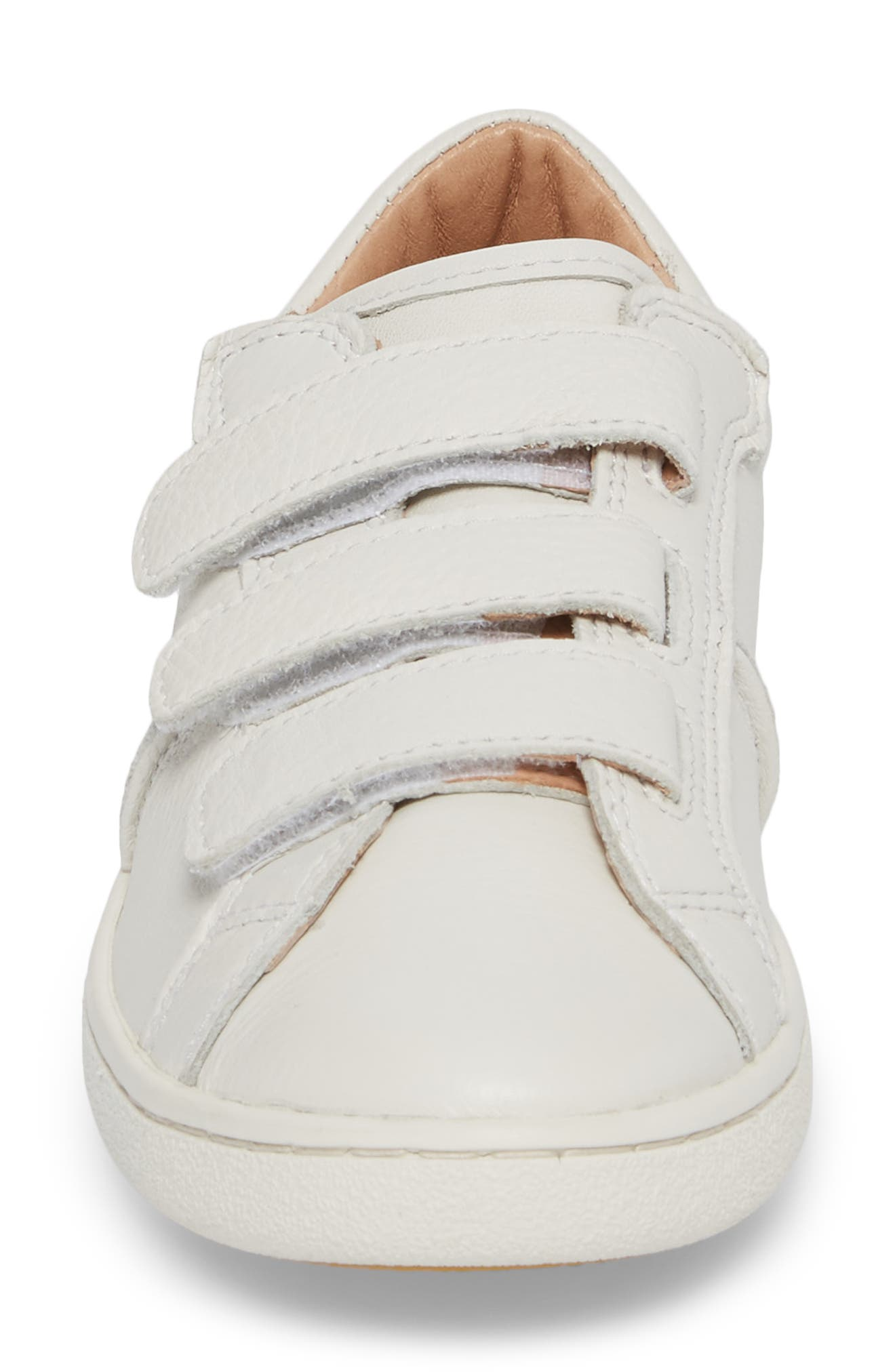 Alix Sneaker,                             Alternate thumbnail 4, color,                             White Leather