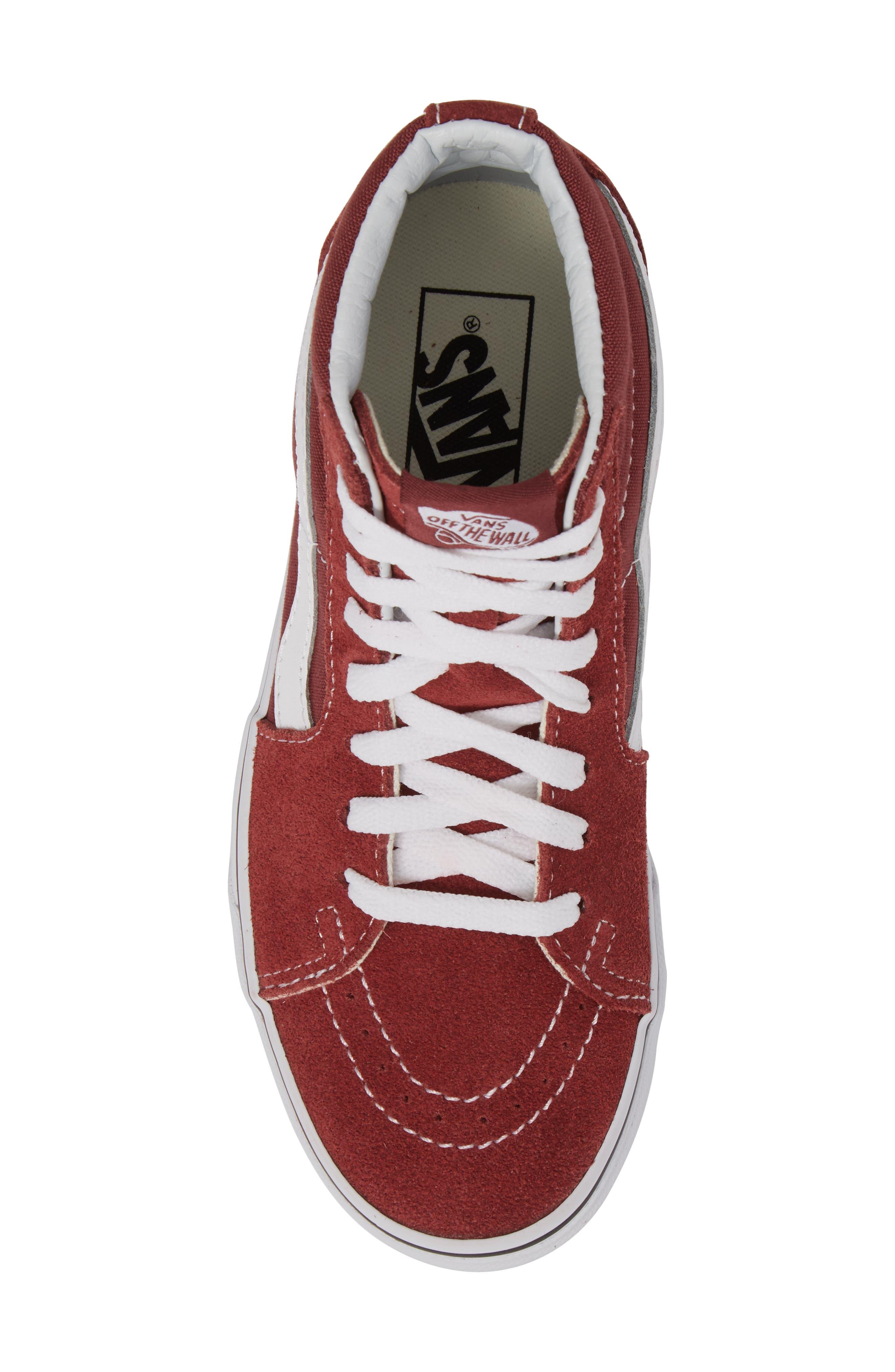 'Sk8-Hi Slim' Sneaker,                             Alternate thumbnail 4, color,                             Apple Butter/ True White