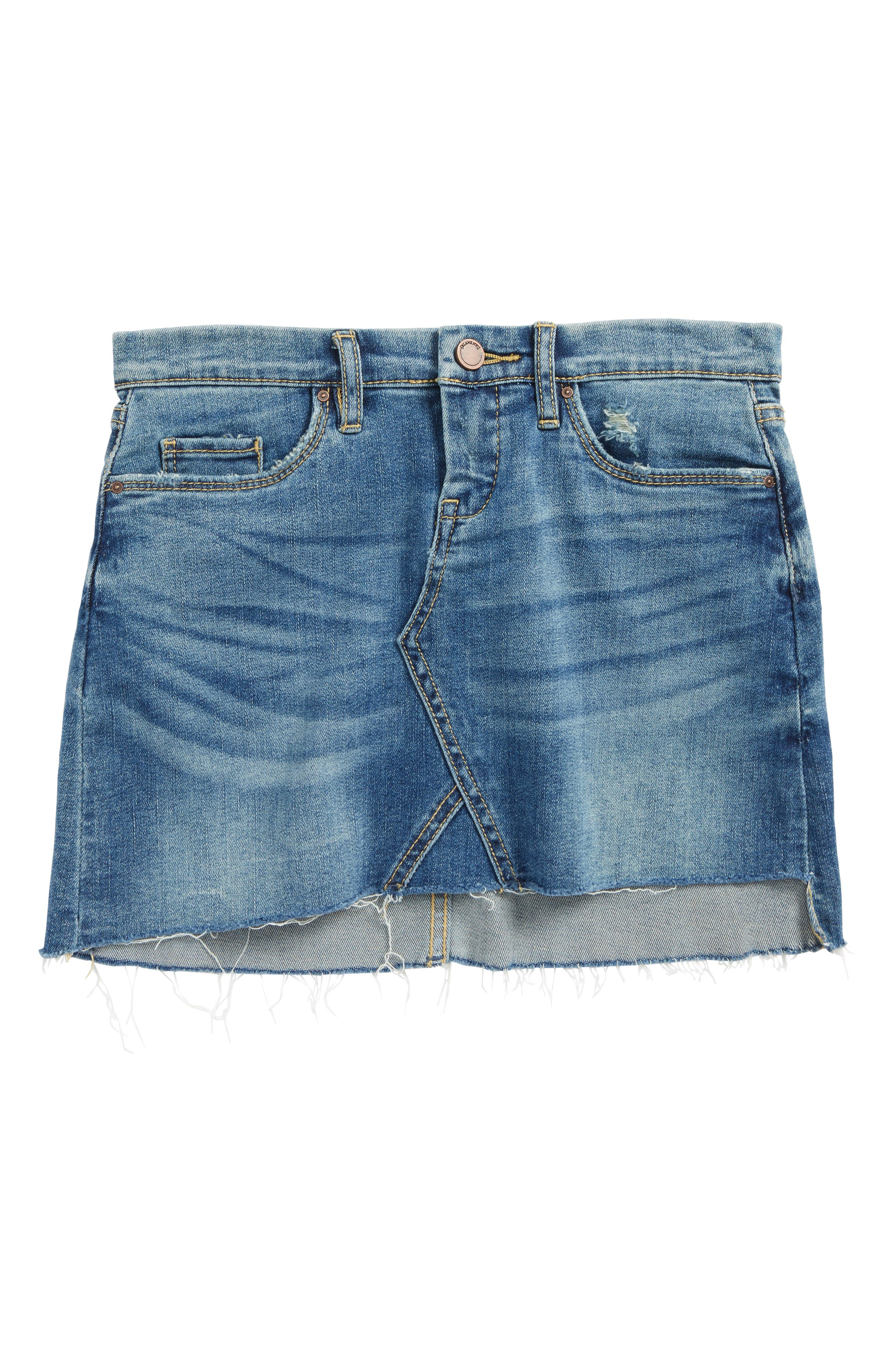 BLANKNYC Cutoff Denim Skirt (Big Girls)