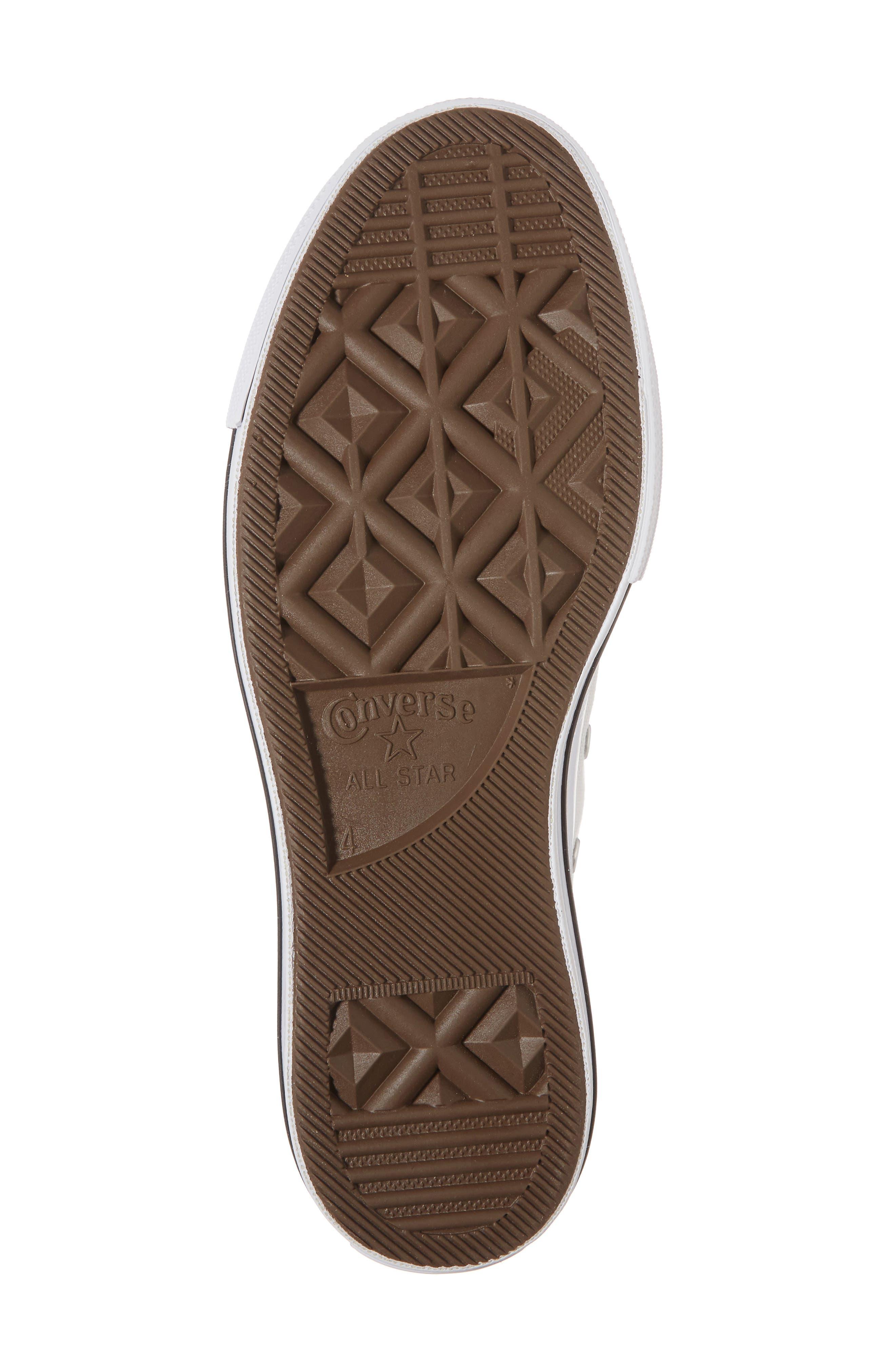 Chuck Taylor<sup>®</sup> All Star<sup>®</sup> Platform Sneaker,                             Alternate thumbnail 6, color,                             White/ Black/ White