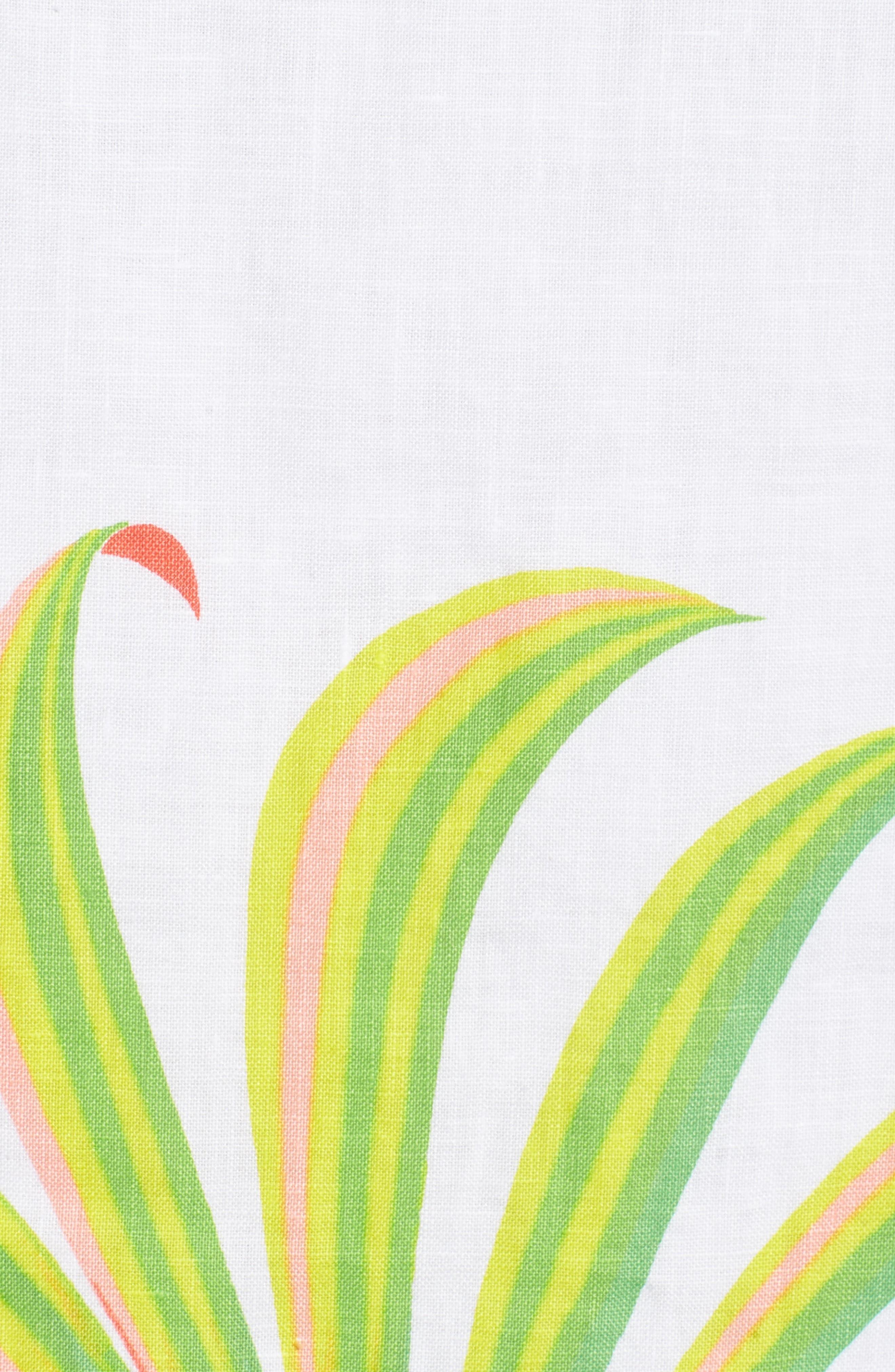 Cricue de Palm Shift Dress,                             Alternate thumbnail 5, color,                             White