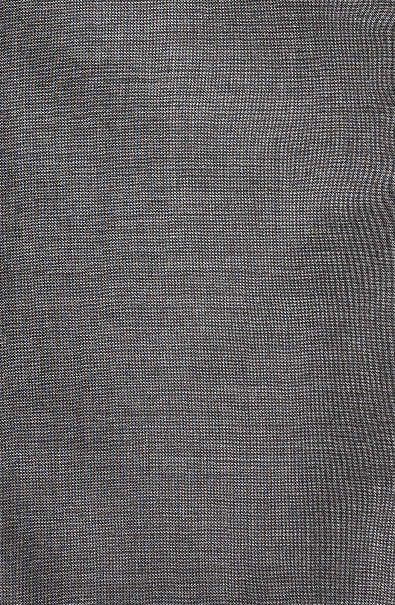 Trim Fit Sharkskin Wool Suit,                             Alternate thumbnail 7, color,                             Mid Char