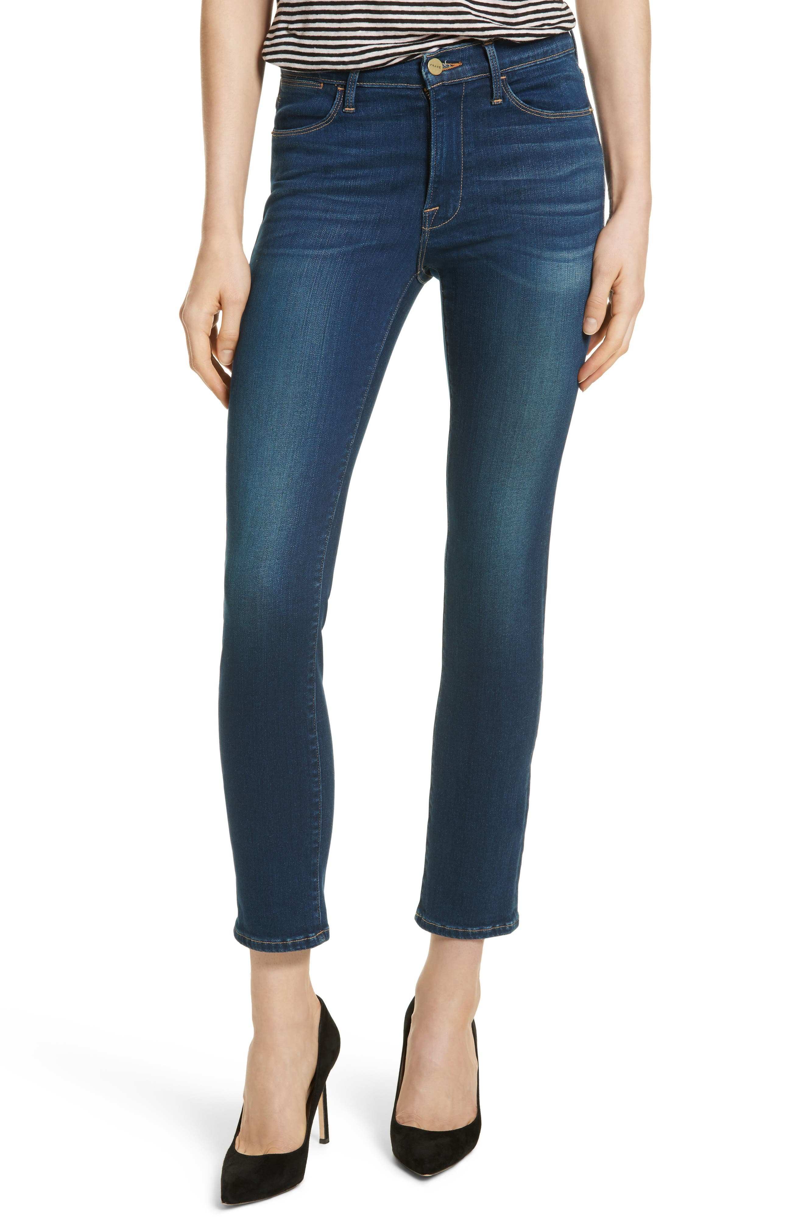 Le High Skinny Ankle Jeans,                         Main,                         color, Murray Field
