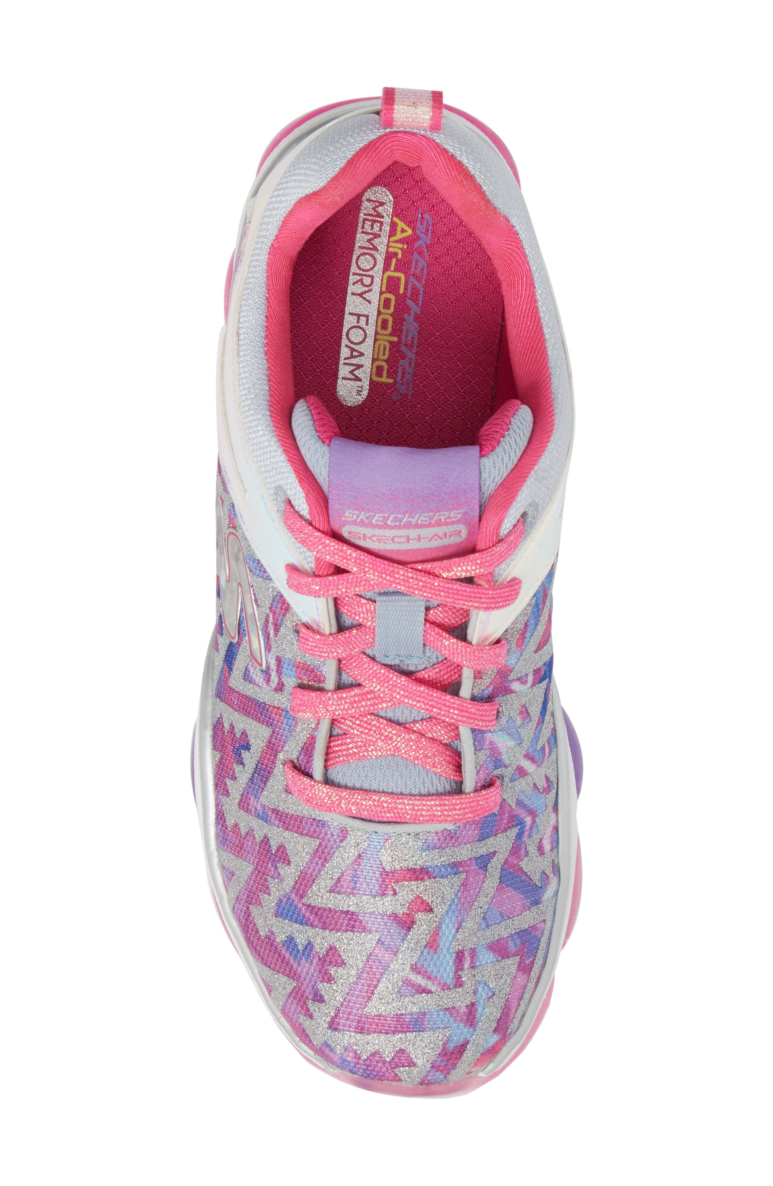 Skech Air Groove Sneaker,                             Alternate thumbnail 4, color,                             Pink/ Multi