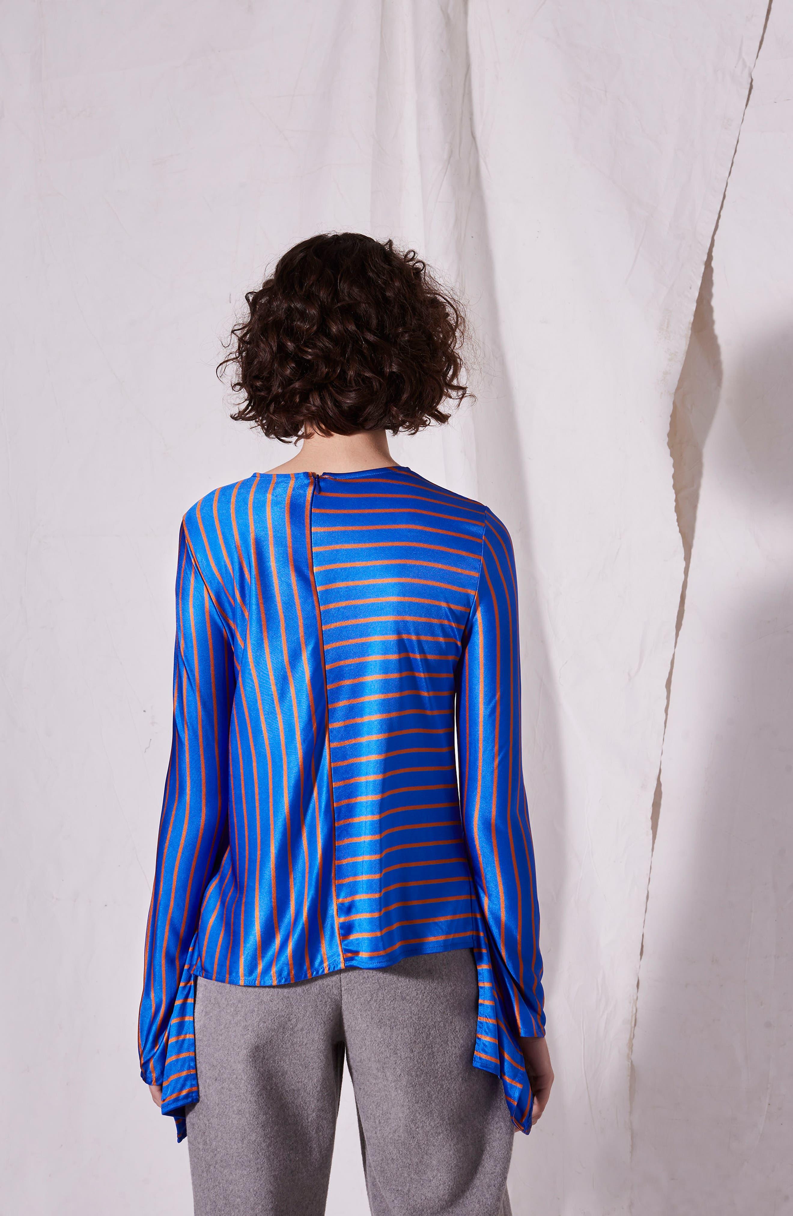 Cutabout Stripe Top,                             Alternate thumbnail 3, color,                             Blue Multi