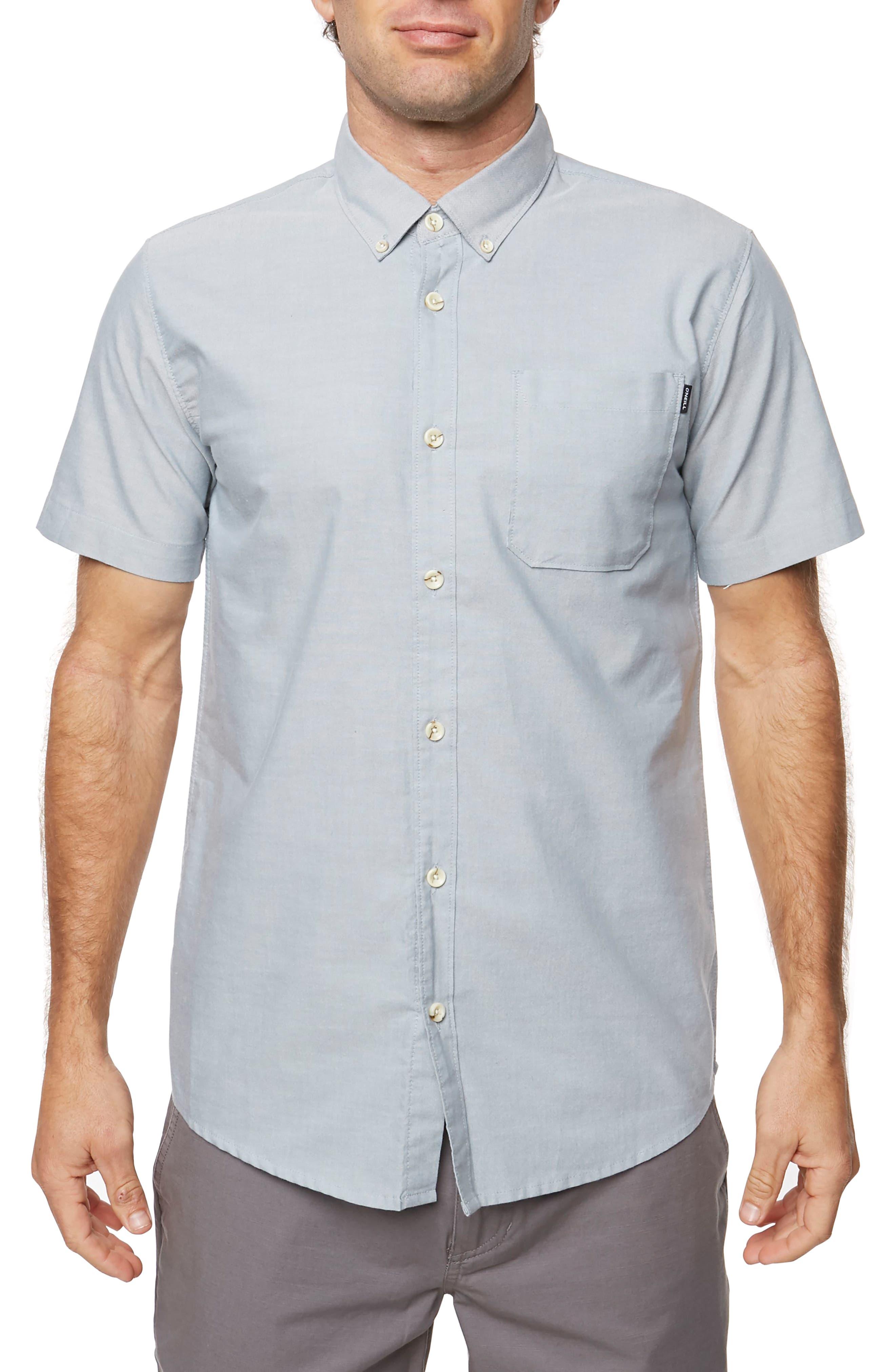 Banks Woven Shirt,                             Main thumbnail 1, color,                             Dark Blue